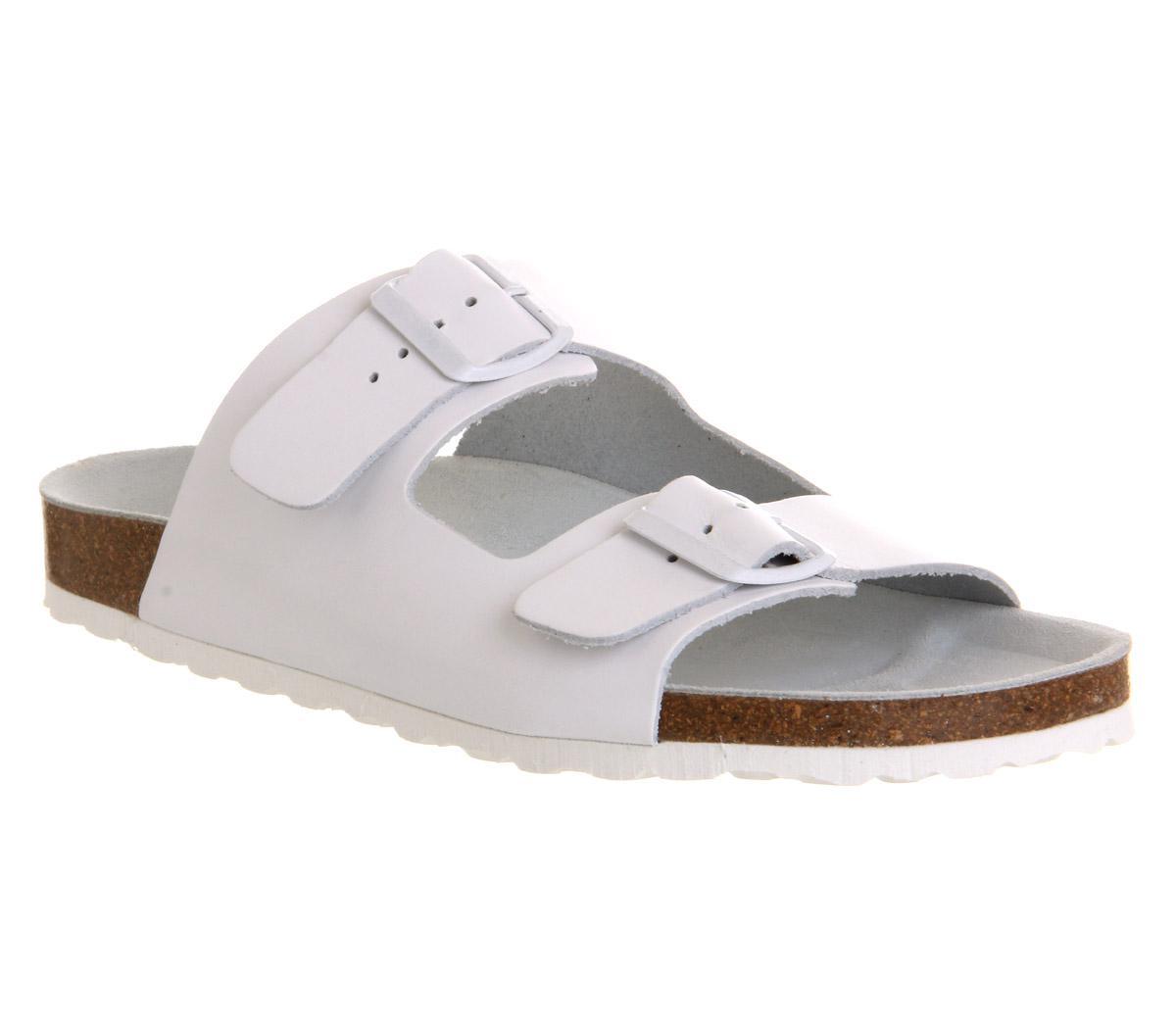 0582fe713dbc7b Office Marbella Buckle Sandal in White for Men - Lyst