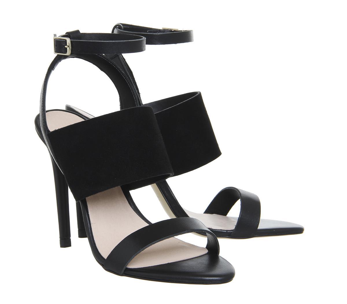 93cbd69b1ec Lyst - Office Anchor 3 Strap Heels in Black