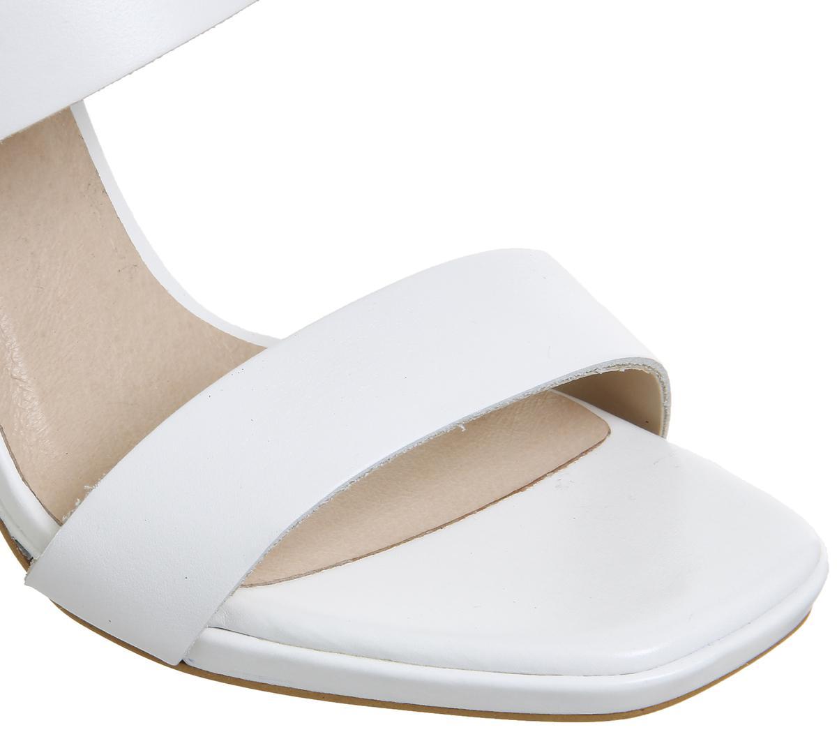 fb7af371649 Office Howl Slingback Slim Block Heels in White - Lyst