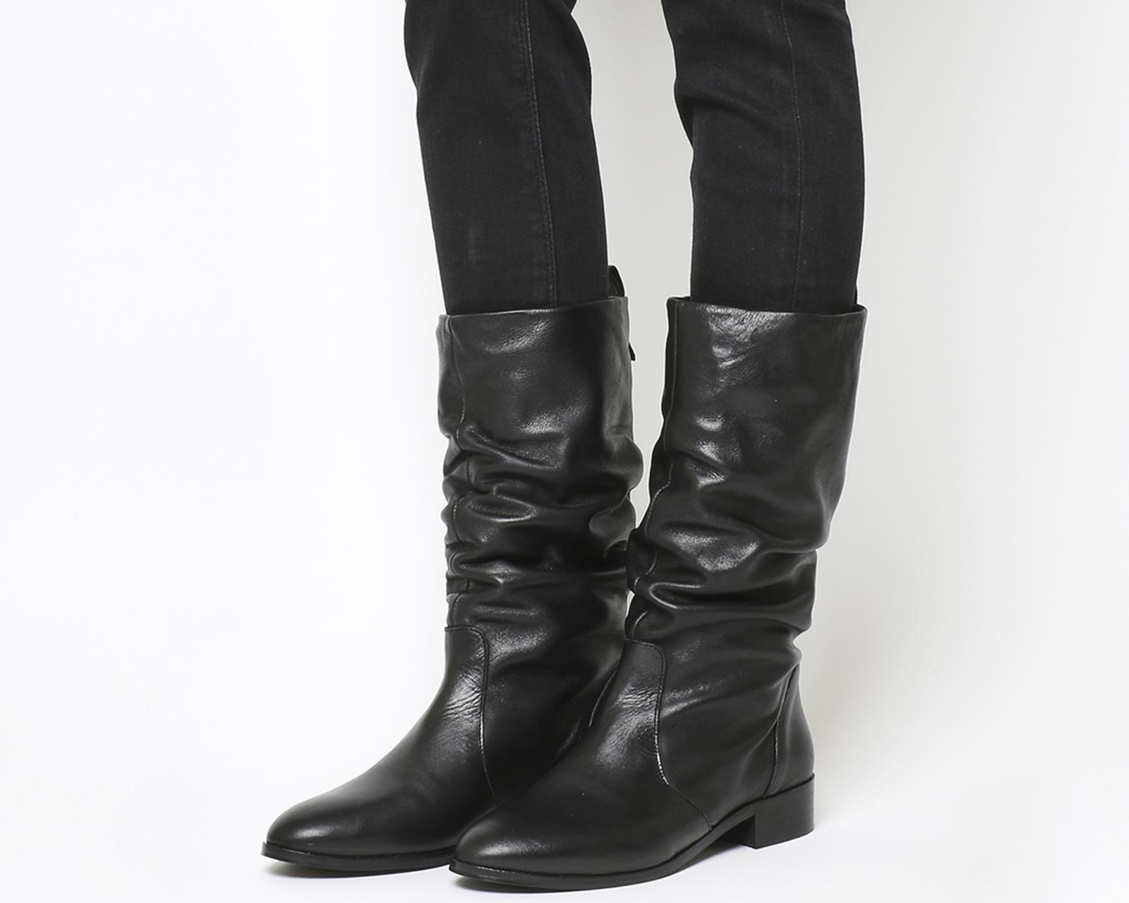 cc06716654cd Lyst - Office Knoxville Ruched Calf Boots in Black