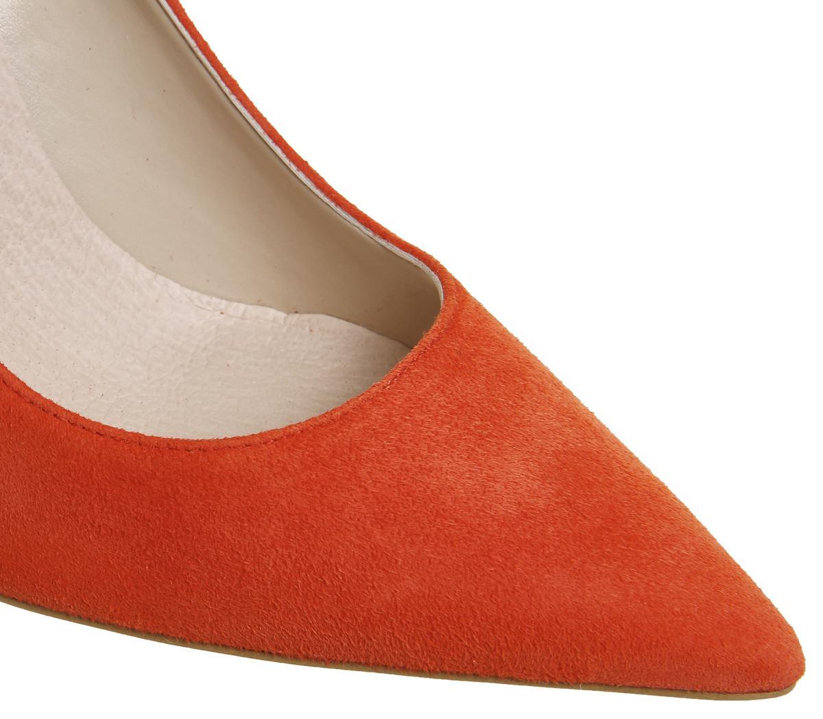 2989ac076f3 Office - Orange Hattie Point Court Heels - Lyst
