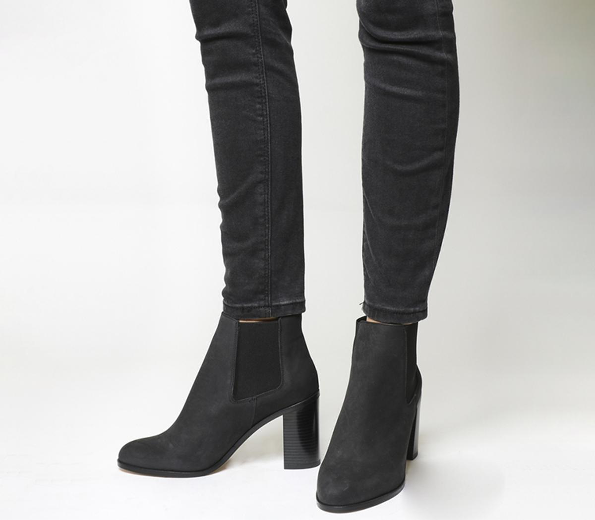 6012a4d8eaf Lyst - Office Logo Block Heel Chelsea Boots in Black