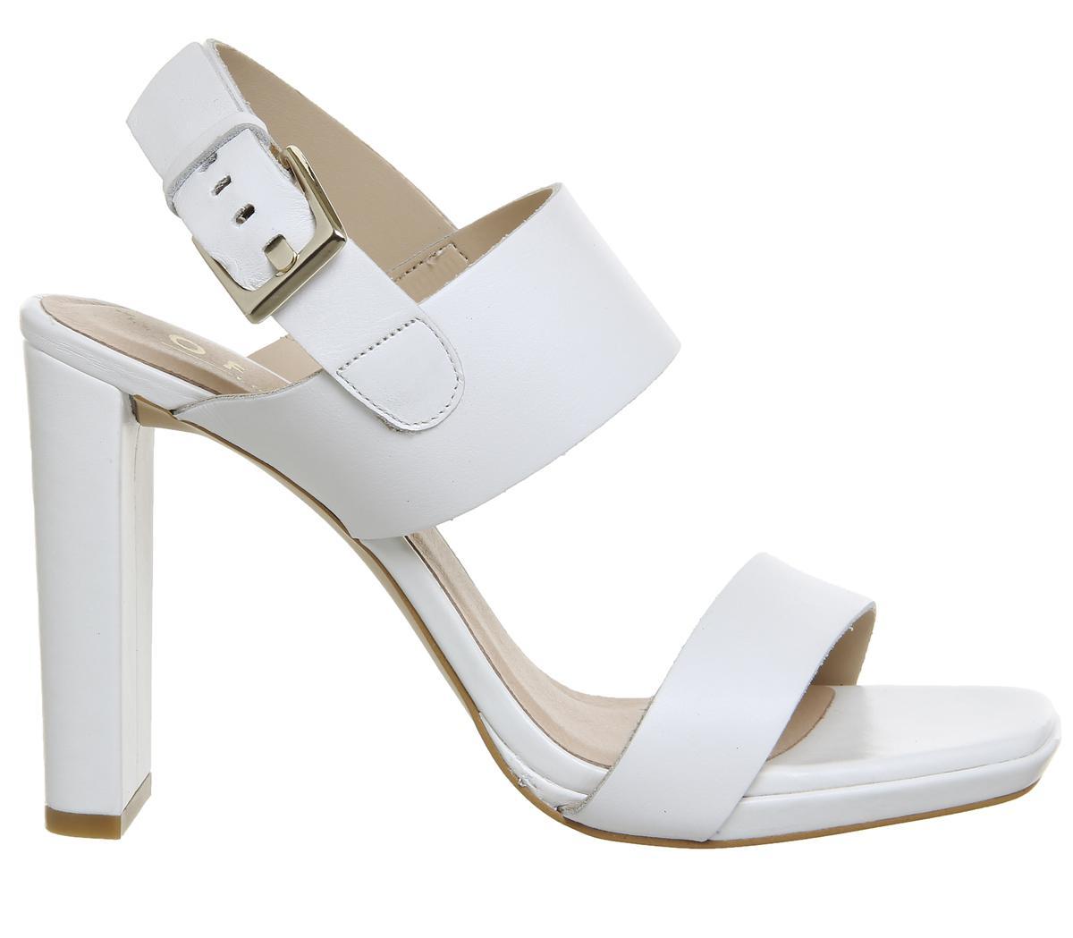8fe3f5b6d9e Lyst - Office Howl Slingback Slim Block Heels in White