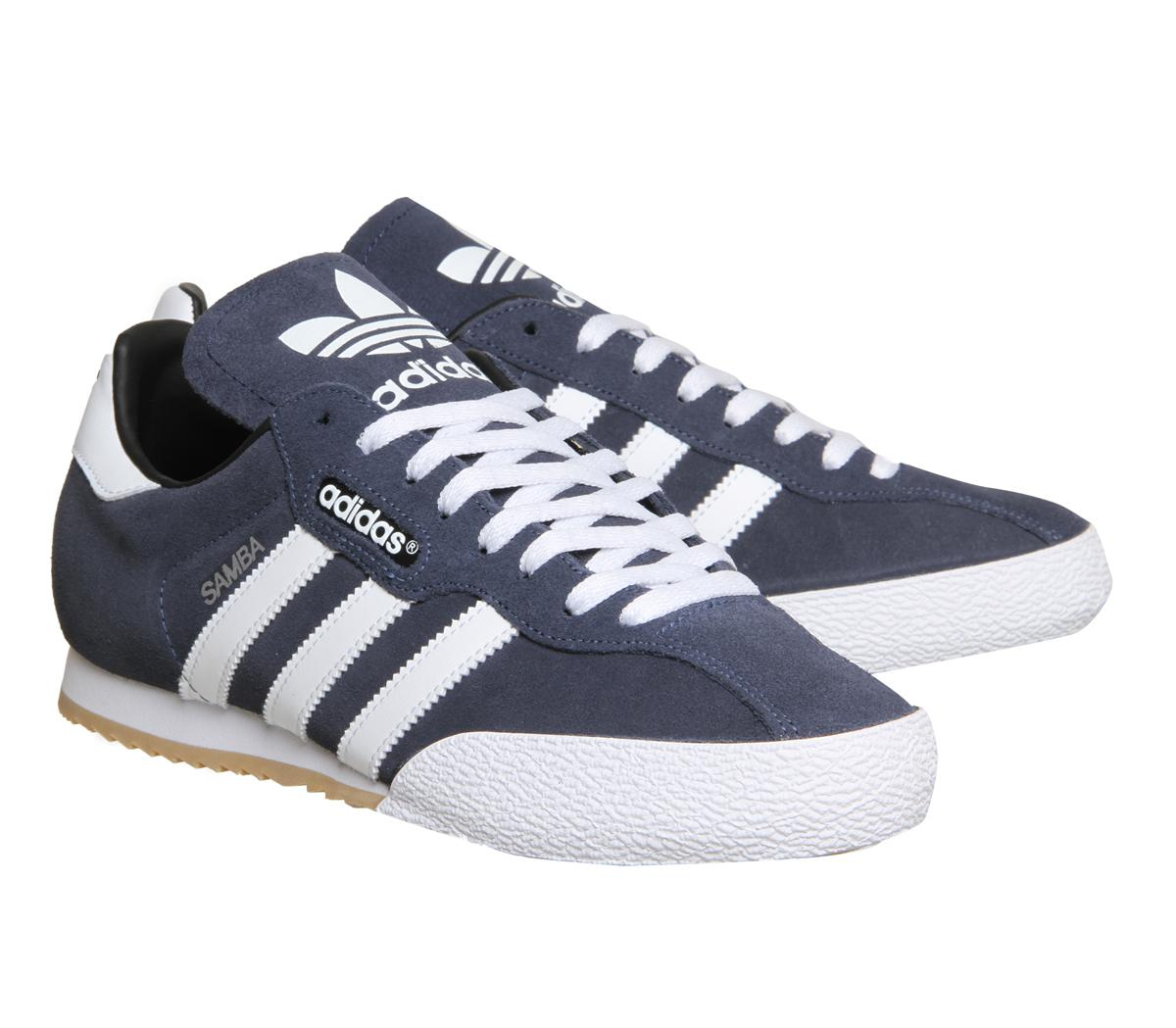 a35b954876dc france adidas samba super suede low top sneakers in blue for men lyst ac123  1b5ae