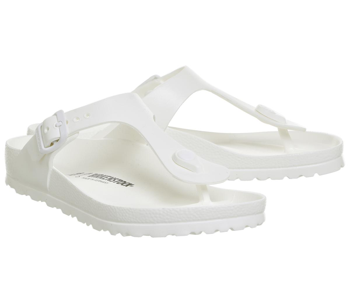 95071a5988954 Lyst - Birkenstock Toe Thong Footbed in White