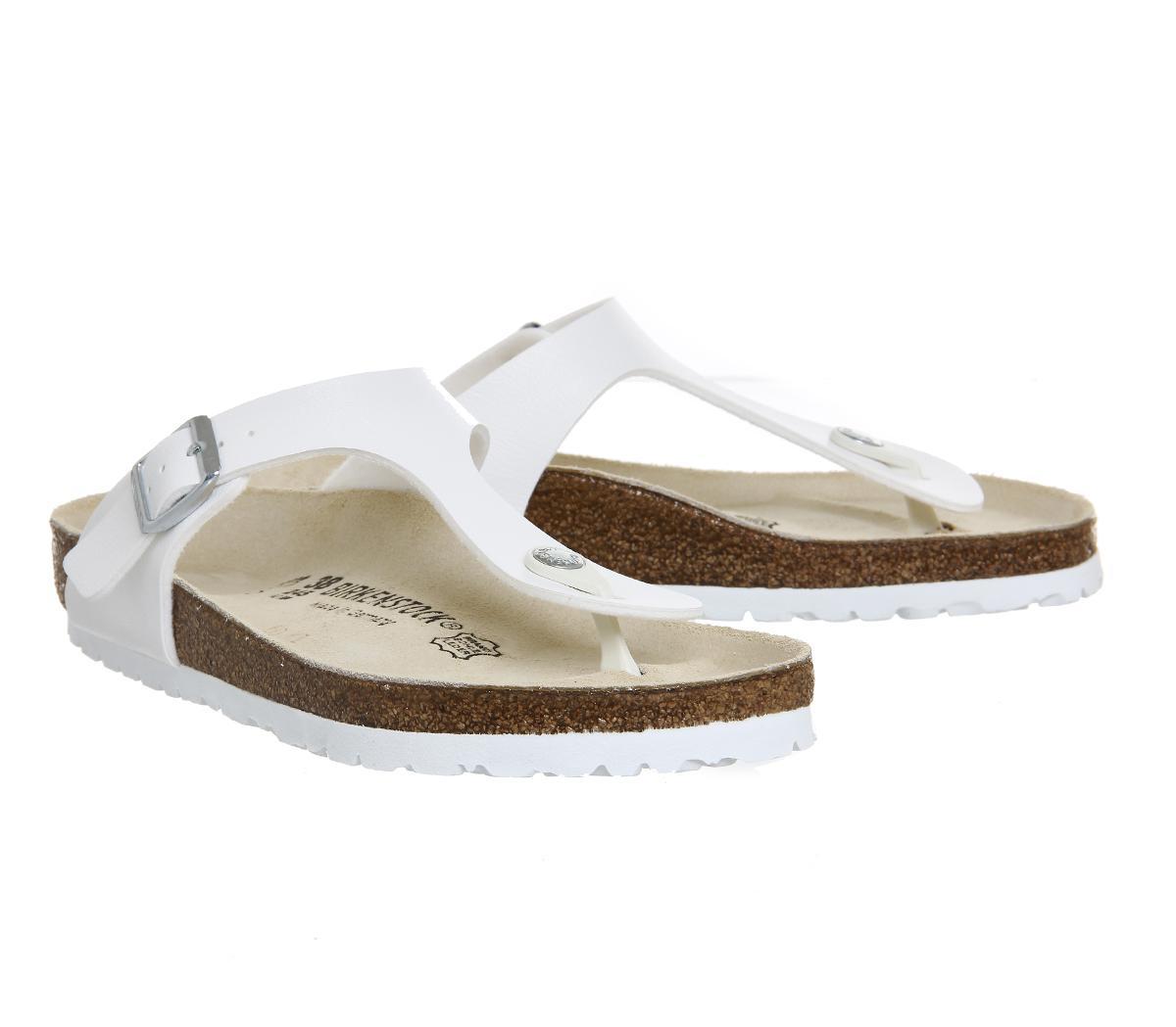 Birkenstock | White Gizeh Toe Thong Footbed | Lyst. View Fullscreen