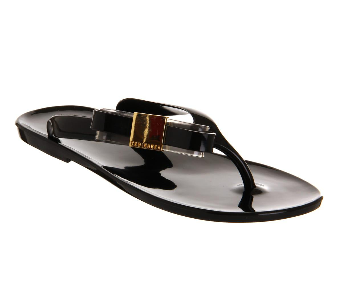 4383c2f42403 Lyst - Ted Baker Hatha Jelly Flip Flop in Black