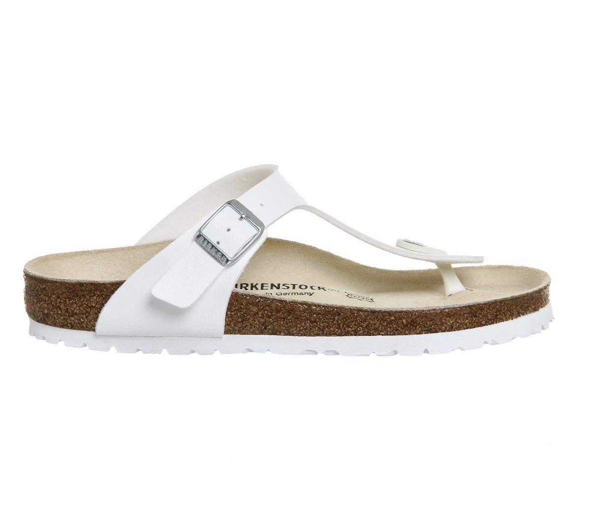 a574bbc828037 Lyst - Birkenstock Gizeh Toe Thong Footbed in White