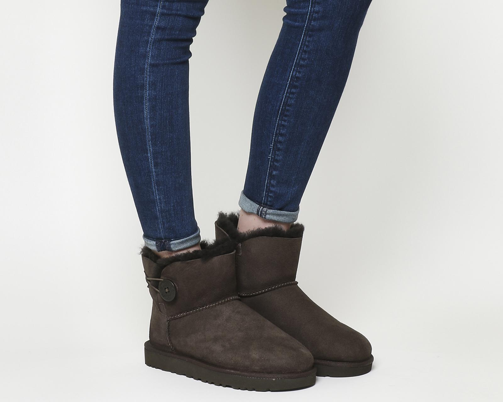 19adc2cc932 UGG Mini Bailey Button Ii Boots in Brown - Lyst
