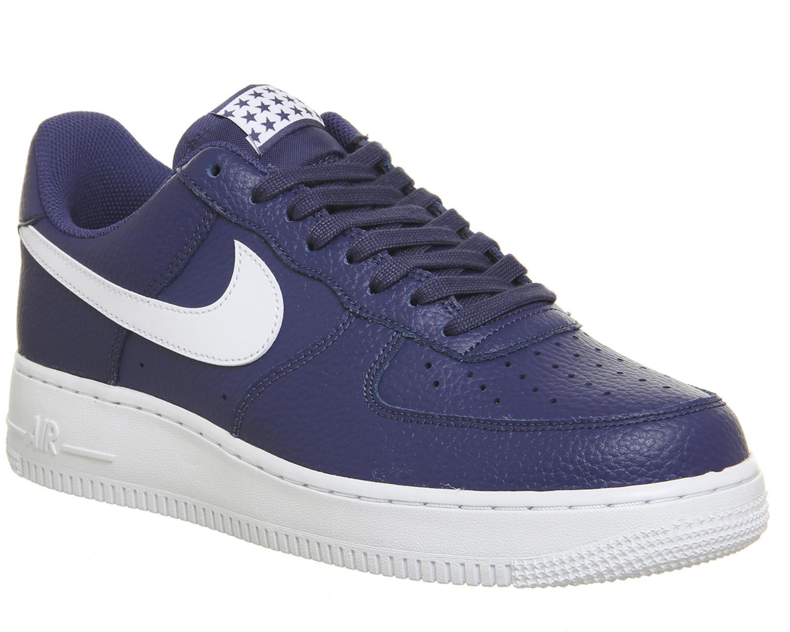 Nike Sportswear AIR FORCE - Trainers - blue recall/white 1z7zk9E