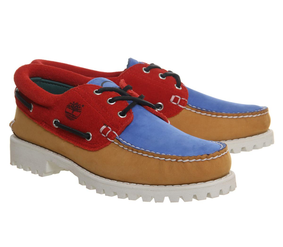 Timberland Multicolor Lug Boat Shoes for men