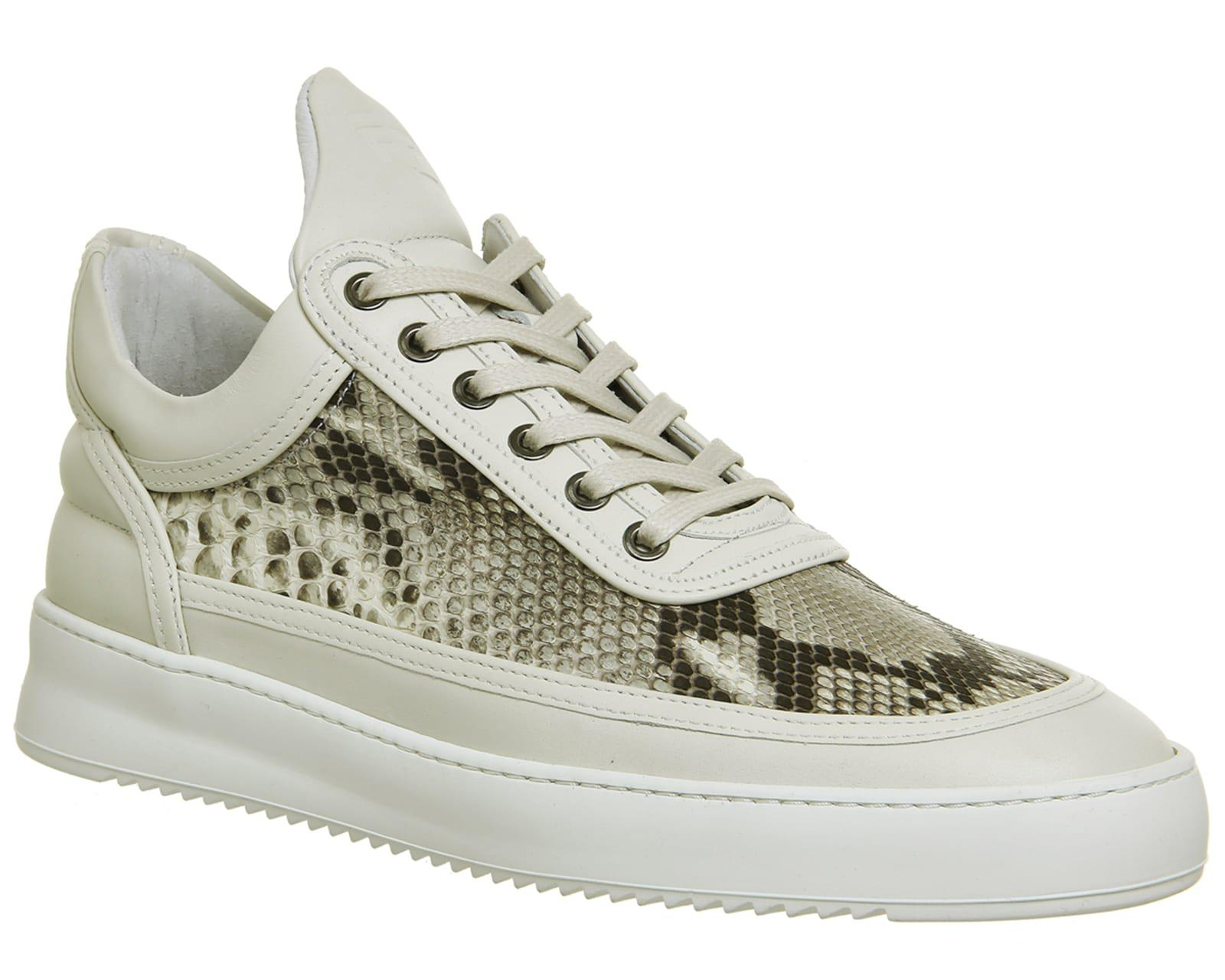 Filling Pieces White Python Trainers