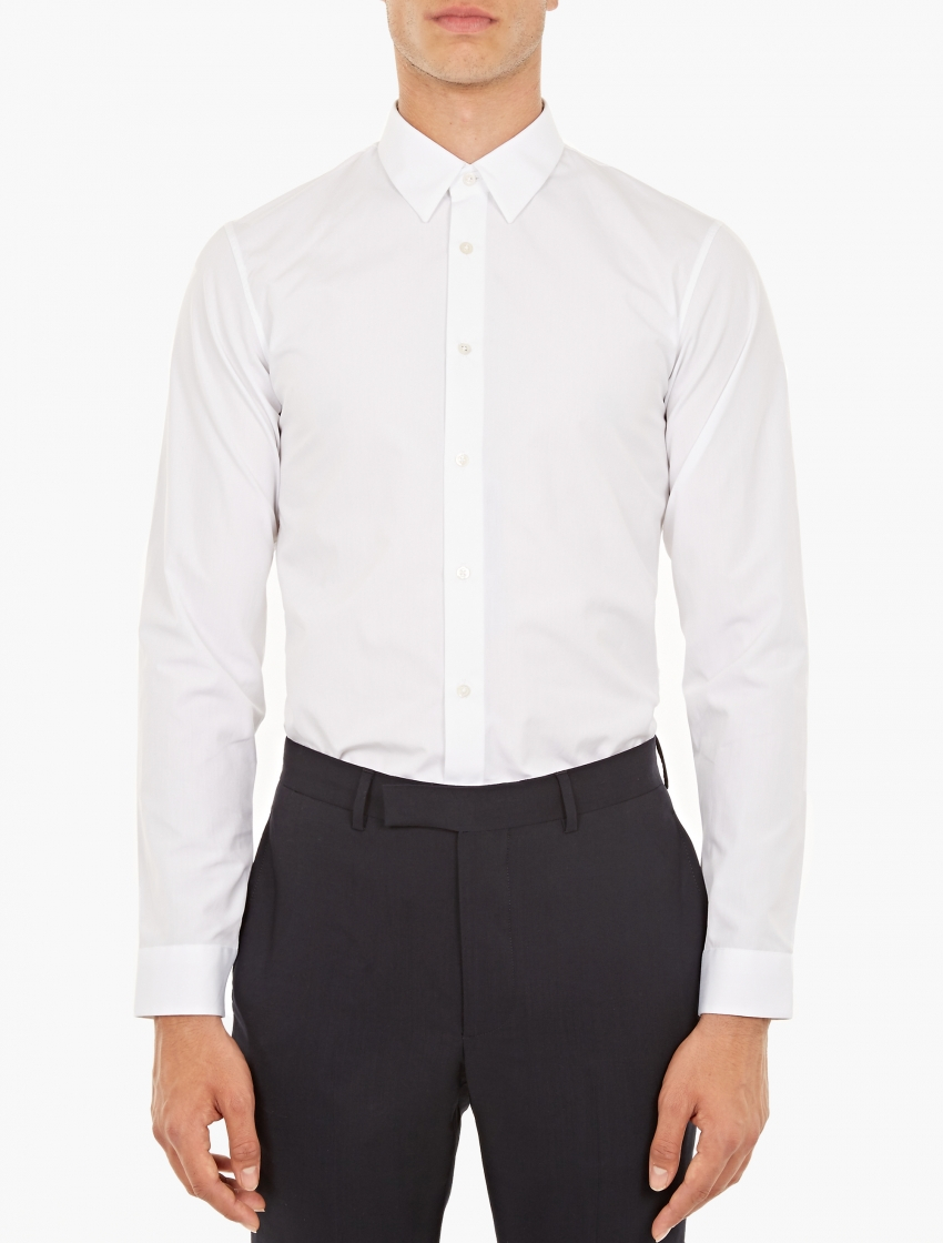 Jil sander white tailor made cotton shirt in white for men for Tailor made shirts online