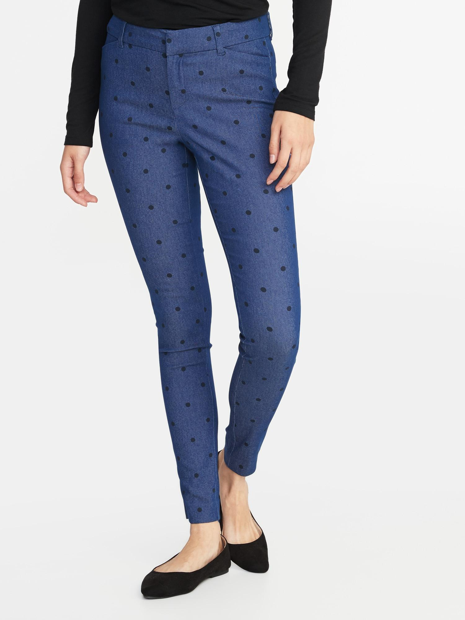 4152409d59dda1 Old Navy Mid-rise Full-length Pixie Pants in Blue - Lyst