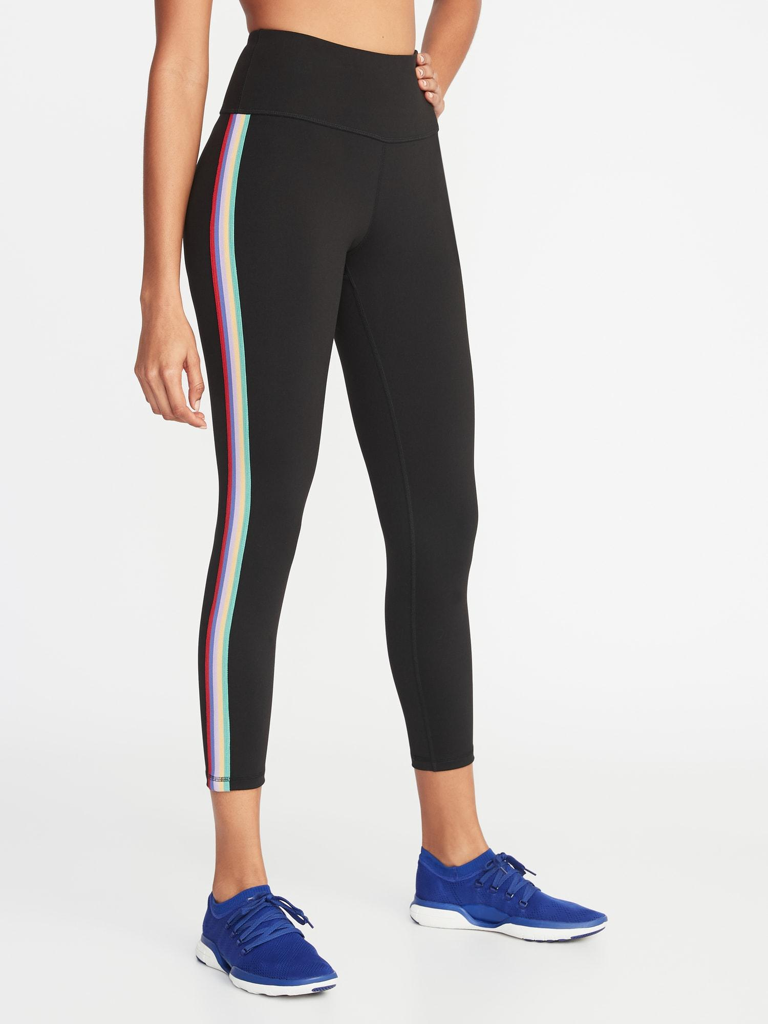7ff44a73bf4fa Old Navy High-rise Elevate Side-stripe 7/8-length Compression ...