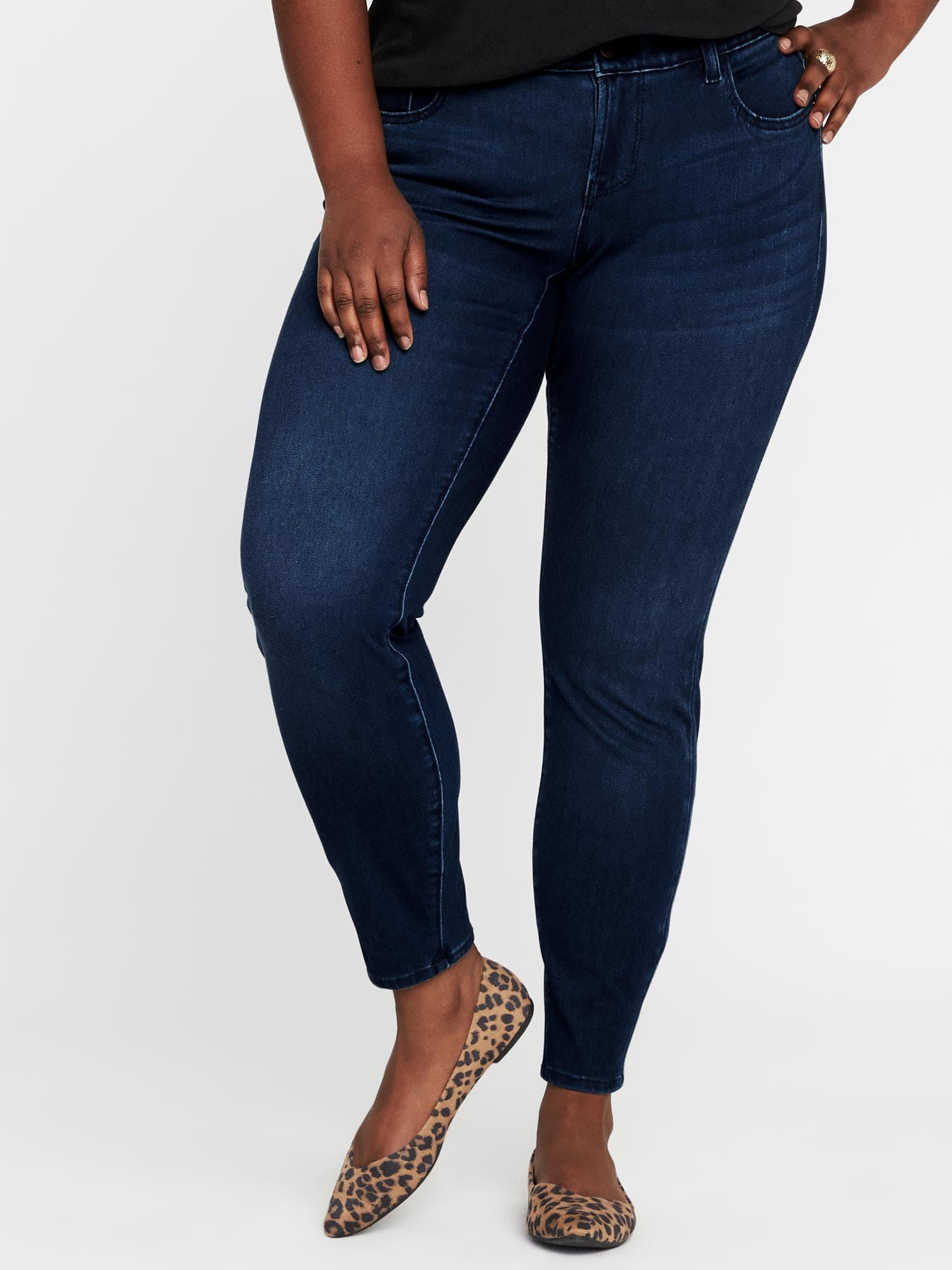 74ff62a663c Old Navy. Women s Blue High-rise Secret-slim Pockets + Waistband Plus-size  Rockstar 24 7 Jeans