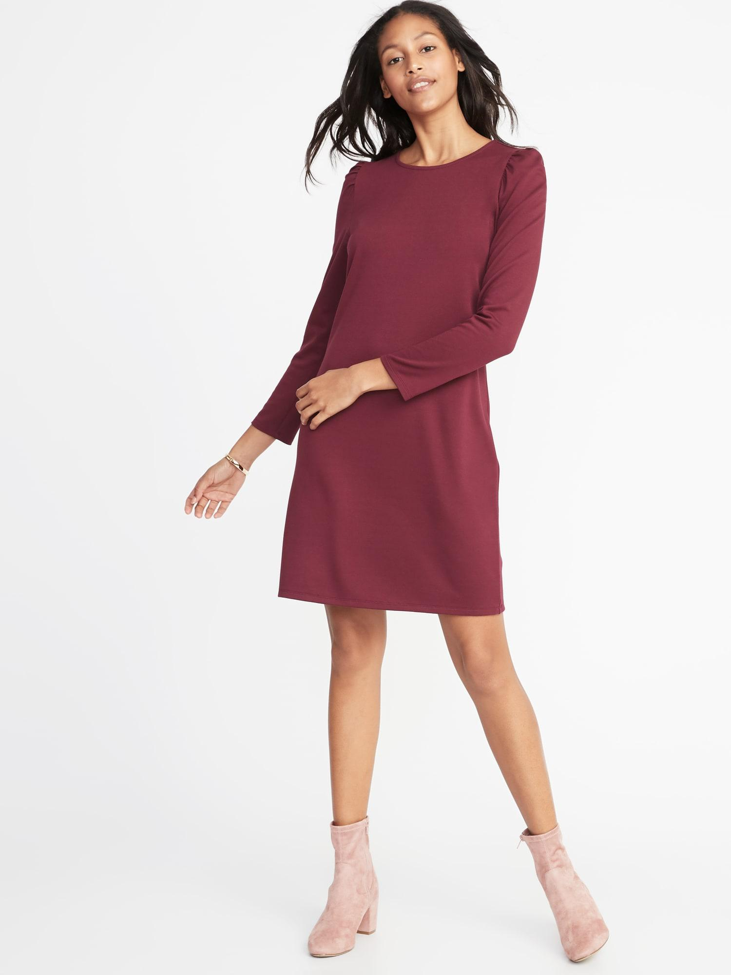835effe89f4 Lyst - Old Navy Ponte-knit Shift Dress in Red