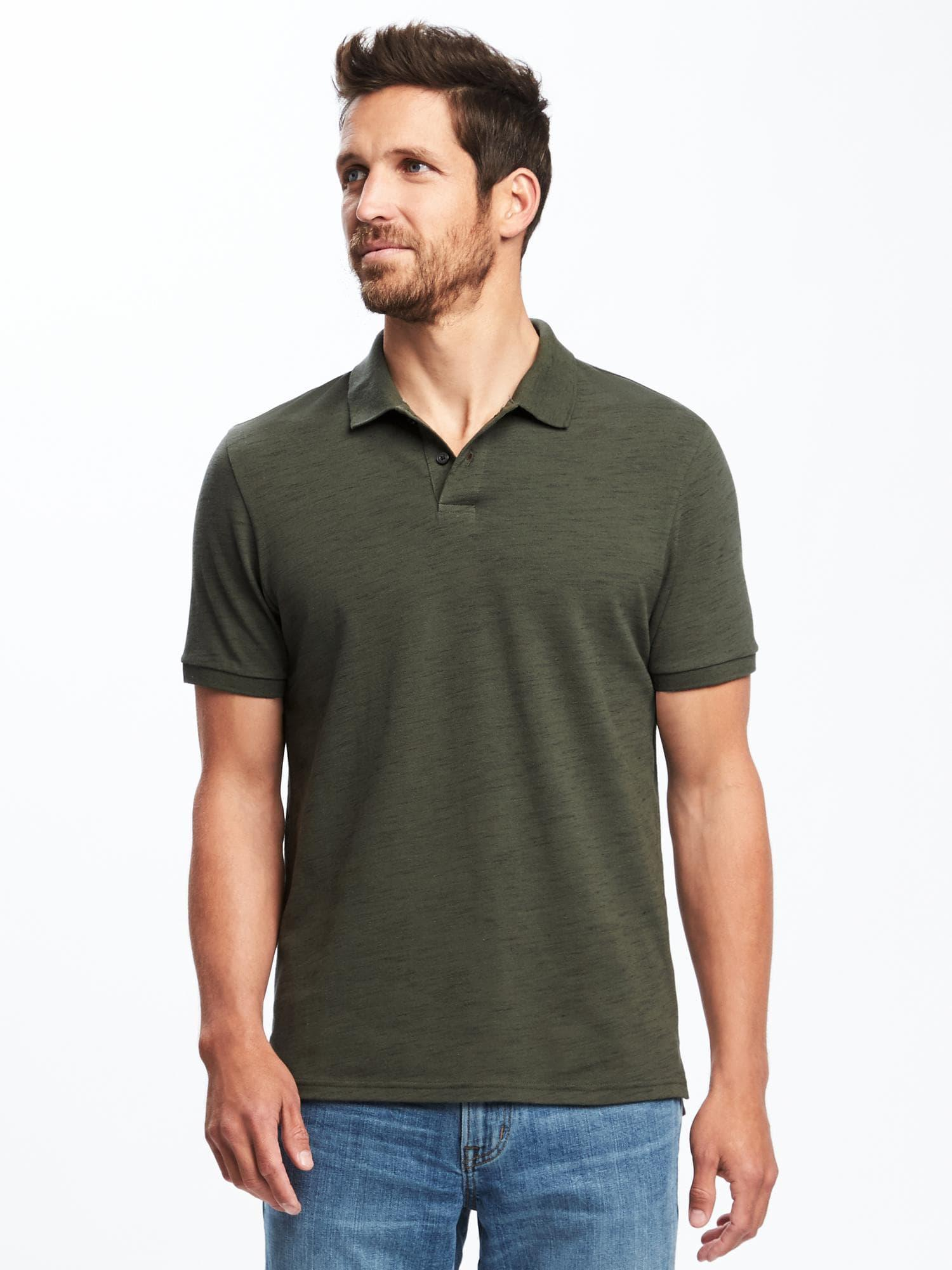 11f3057c81b Lyst - Old Navy Built-in Flex Moisture-wicking Pro Polo in Green for Men