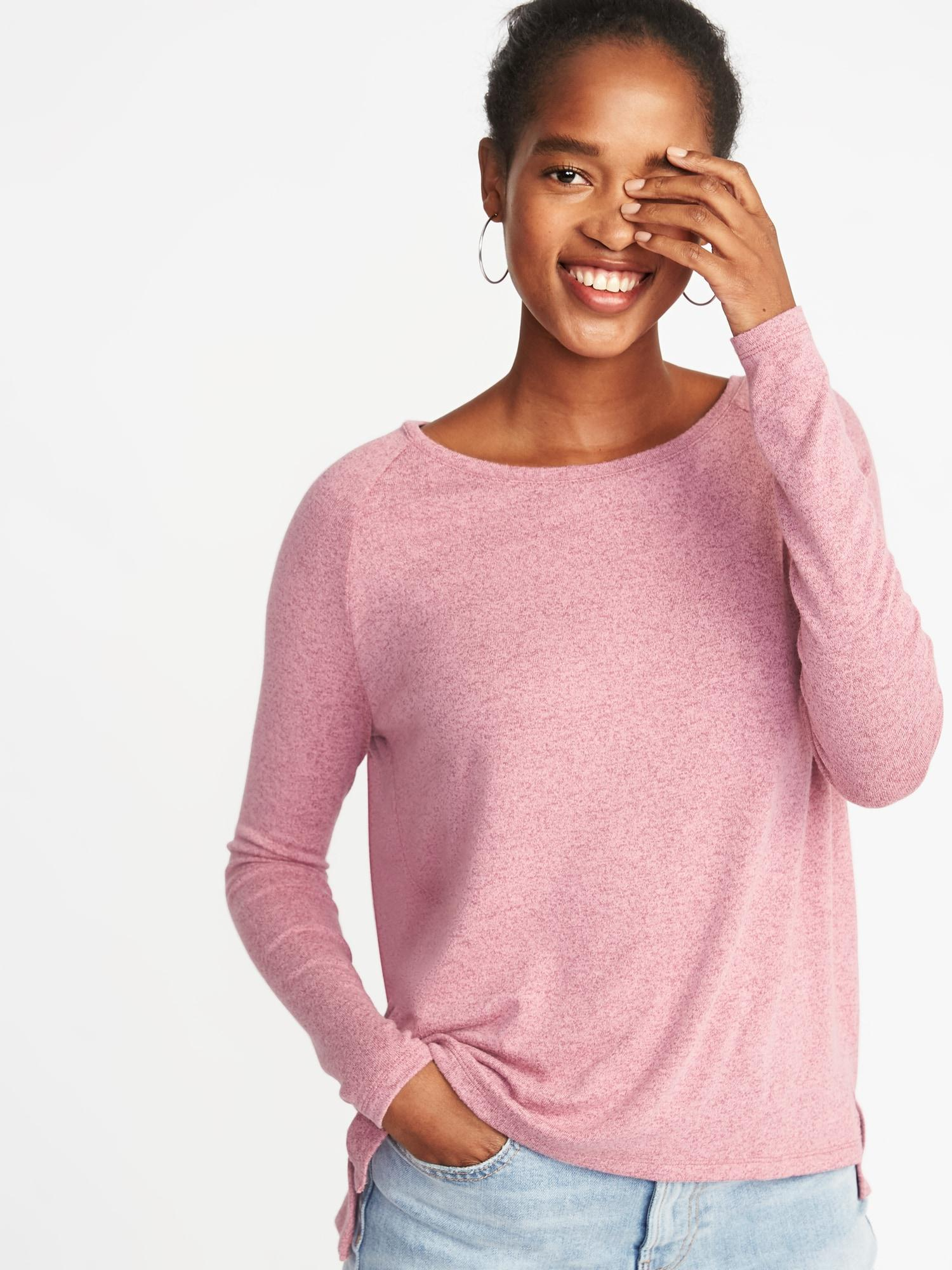 adf49f763 Old Navy Loose Luxe Soft-spun Tee in Pink - Lyst