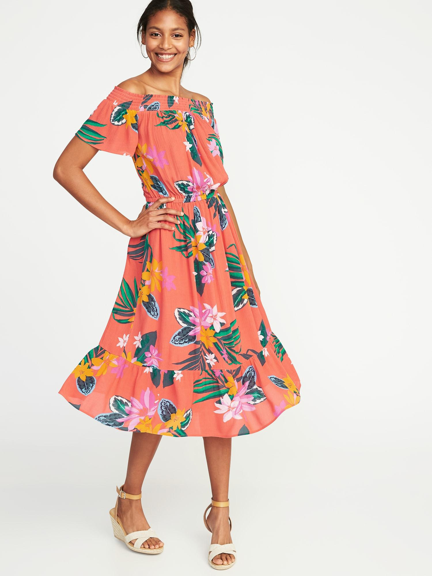 aa2dabbcd2 Gallery. Previously sold at: Old Navy · Women's Off The Shoulder Dresses ...