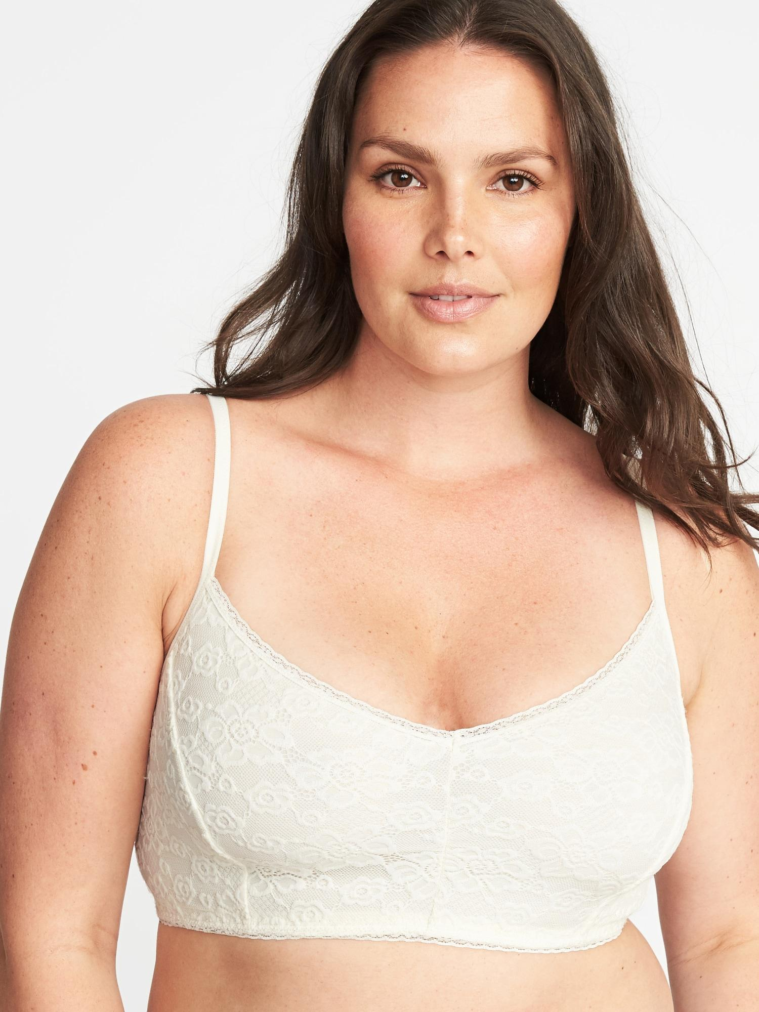 bc2379db48f Lyst - Old Navy Plus-size Lace Cami Bralette in Natural