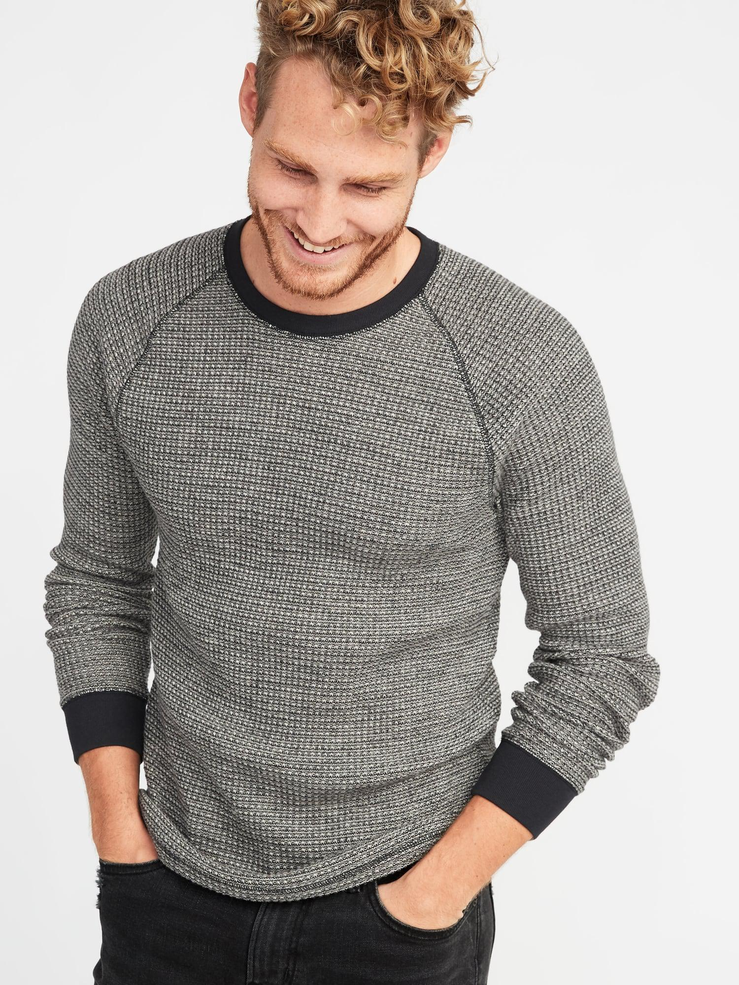 3b4a25c7 Old Navy Chunky-textured Thermal-knit Tee in Black for Men - Lyst