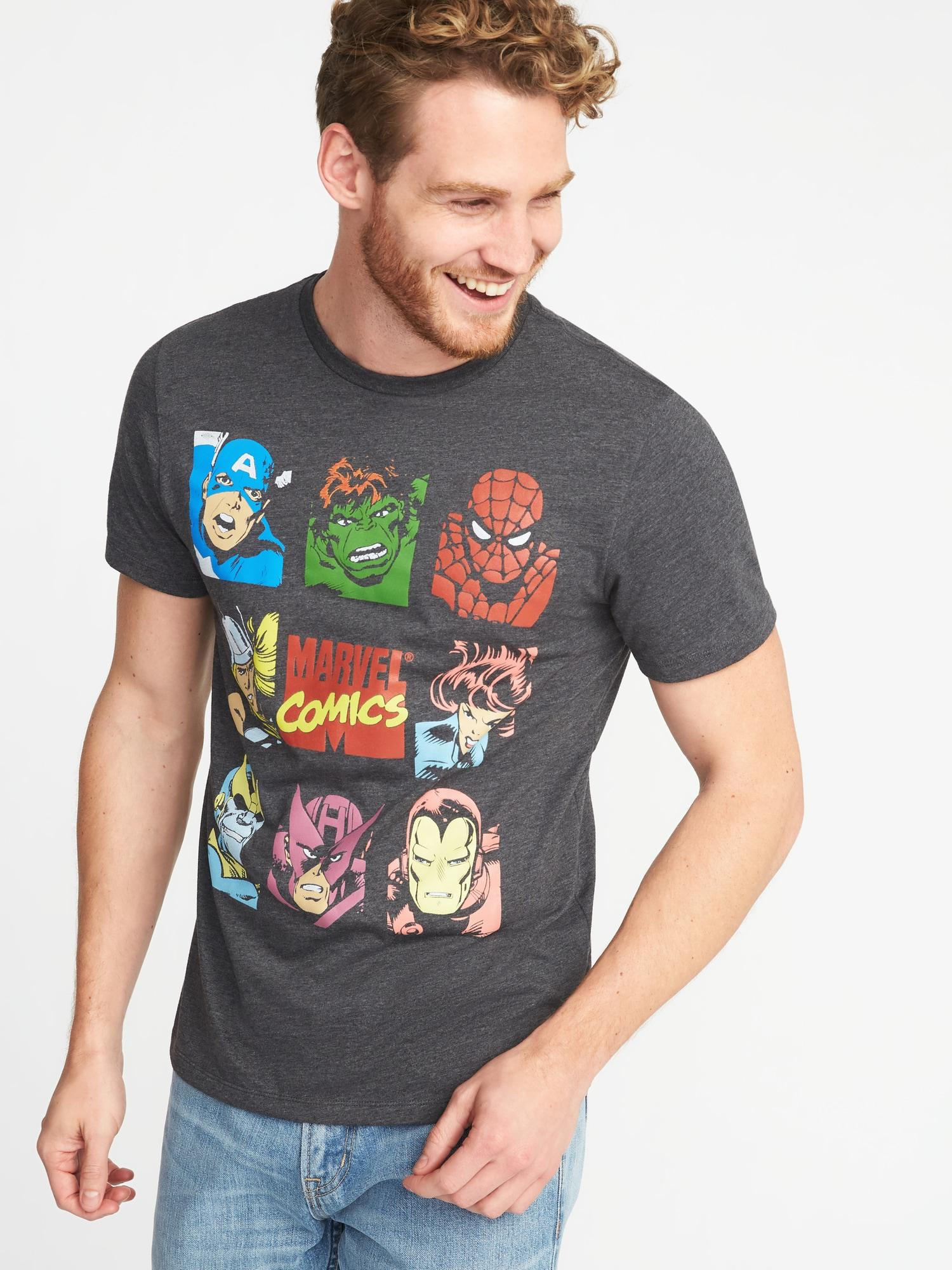 Lyst Old Navy Marvel Comicstm Avengers Tee In Gray For Men