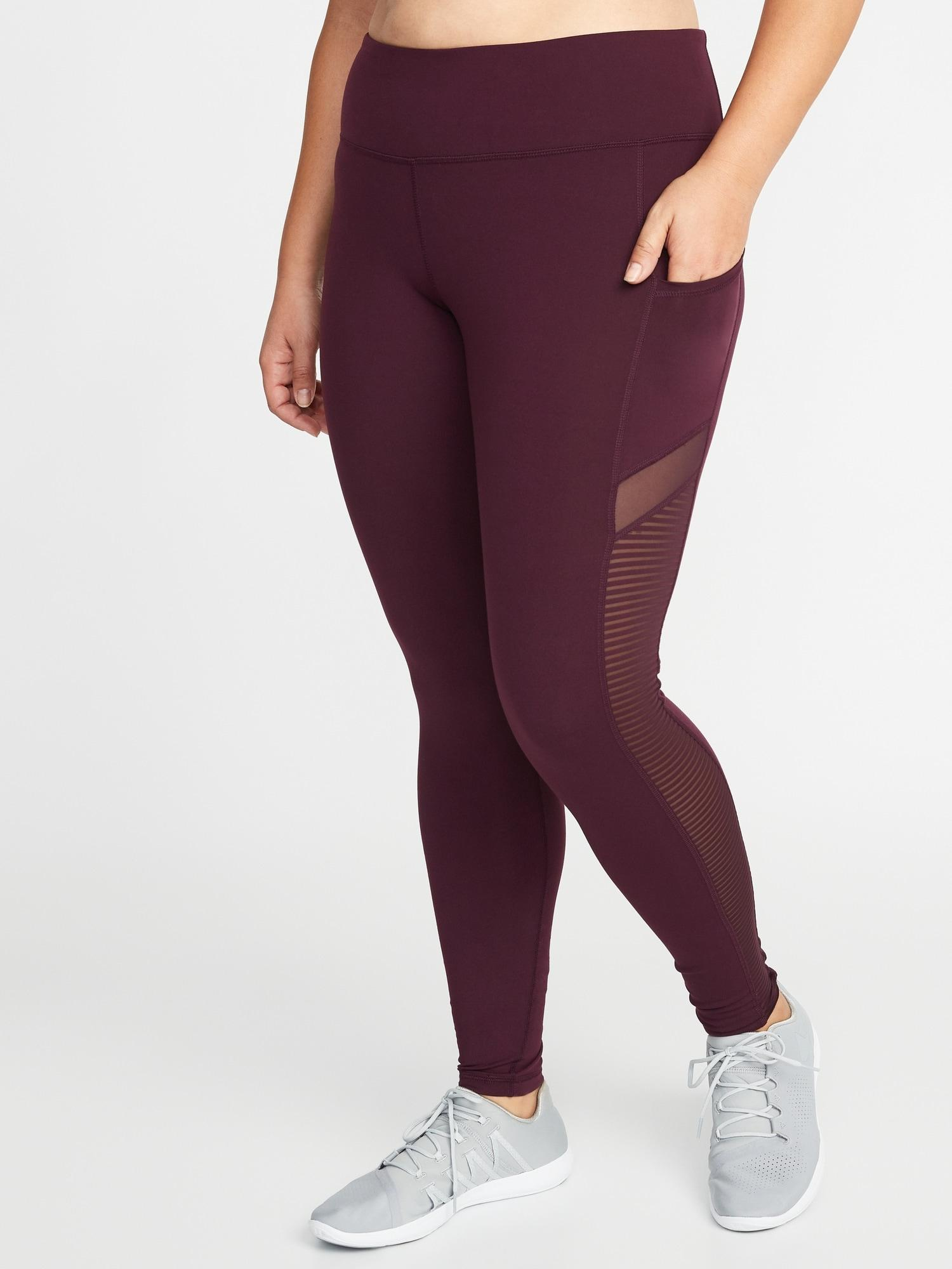 f722c8d2e28755 Old Navy High-rise Elevate Mesh-trim Compression Plus-size Leggings ...