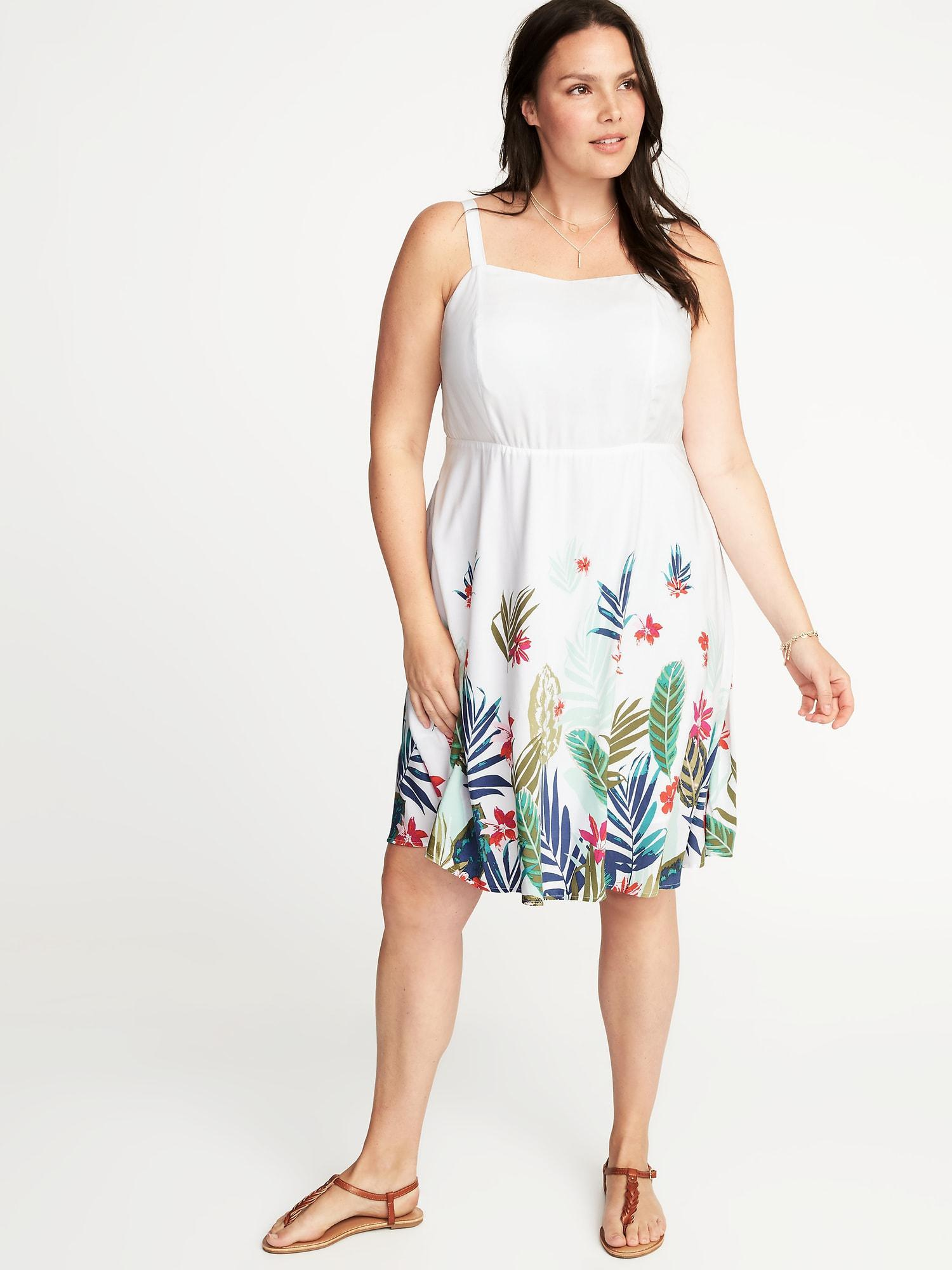 bb69b666d40 Lyst - Old Navy Plus-size Fit   Flare Cami Dress in White