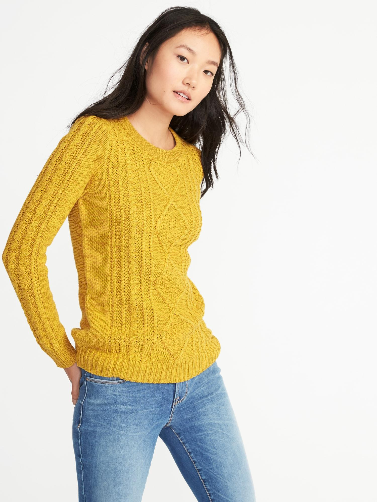 33579561bc8 Gallery. Previously sold at  Old Navy · Women s Cable Knit Sweaters Women s  Striped Turtleneck ...
