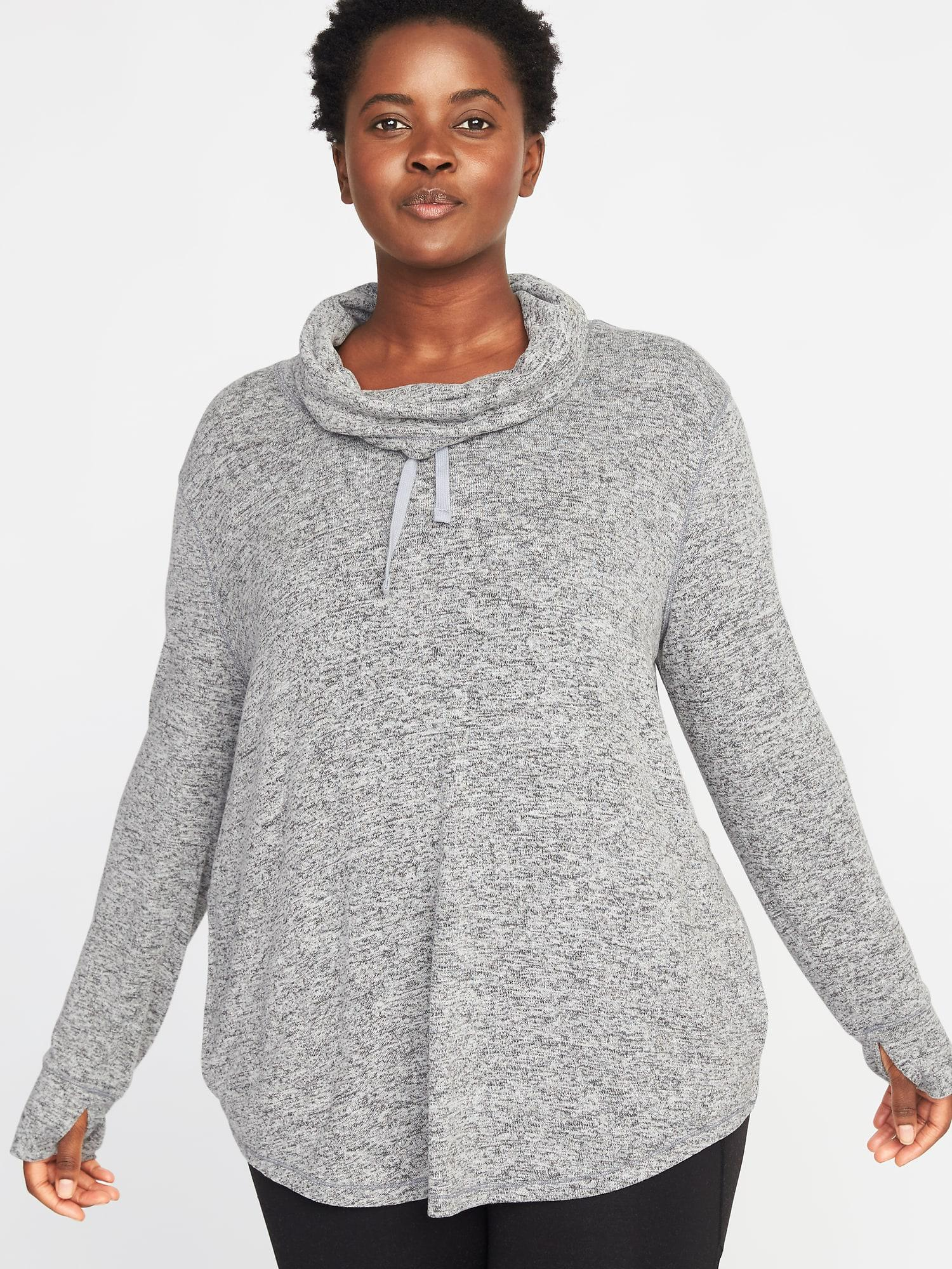 01bea3697a Lyst - Old Navy Funnel-neck Plus-size Performance Pullover in Gray