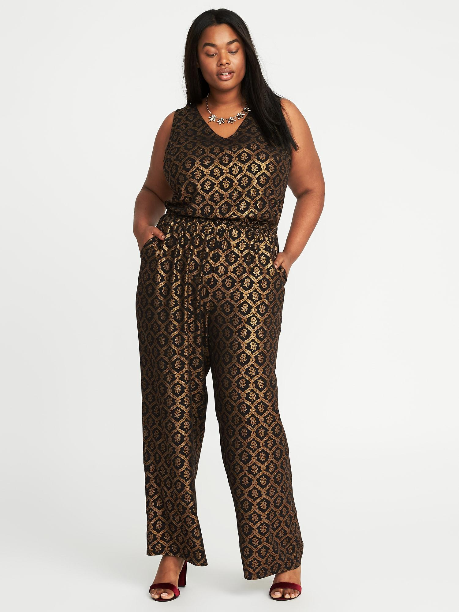 907f5f2d5107 Lyst - Old Navy Plus-size Sleeveless Jumpsuit in Black