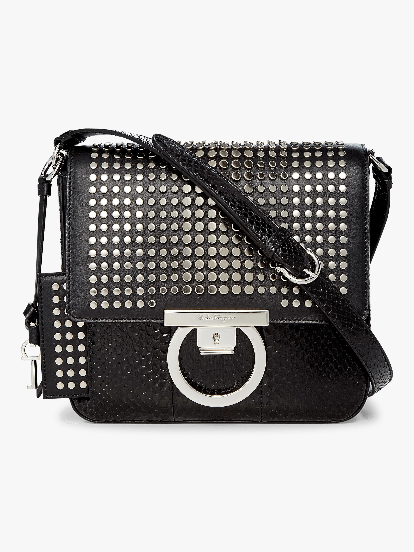 85119c352db2 Lyst - Ferragamo Lock Crossbody Bag in Black
