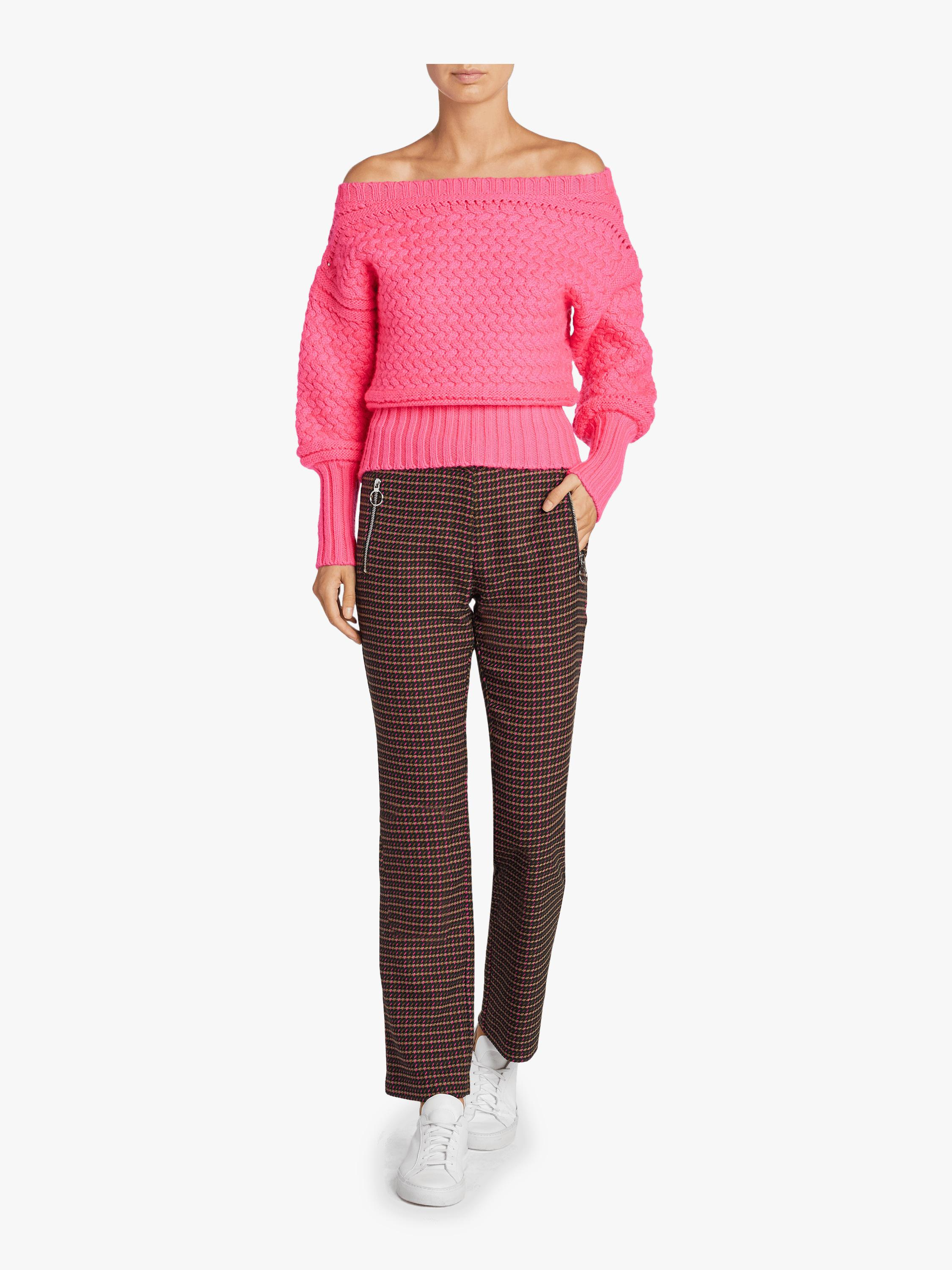 4ae0b23091b4 Lyst - Tanya Taylor Cable Knit Marie Knit Sweater in Pink