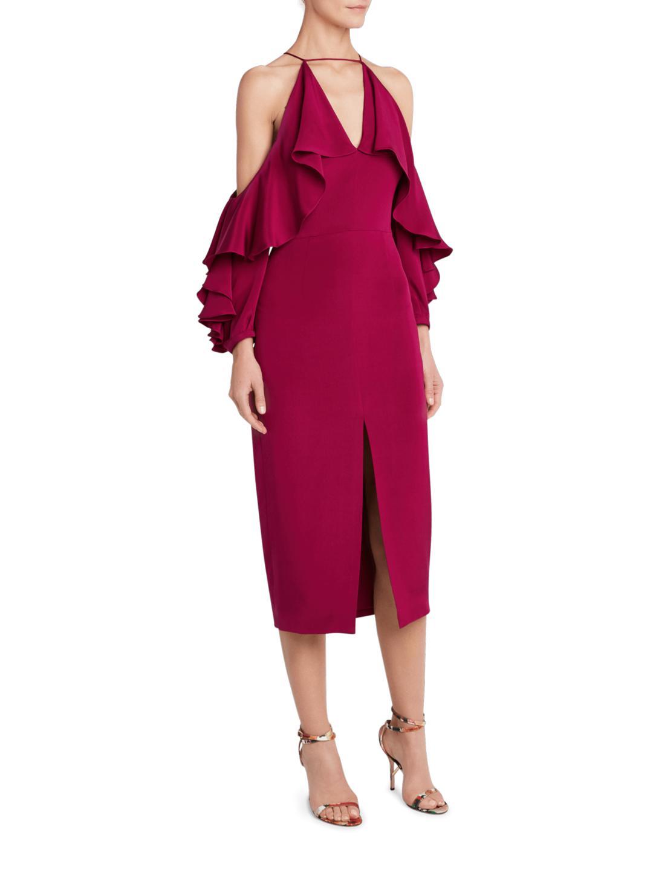 2a7d5dabc0 Lyst - Cushnie et Ochs Aura Cold Shoulder Dress in Red