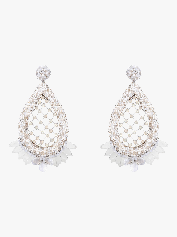 f5b75f5eec16e Deepa Gurnani Opal Earrings in Metallic - Lyst