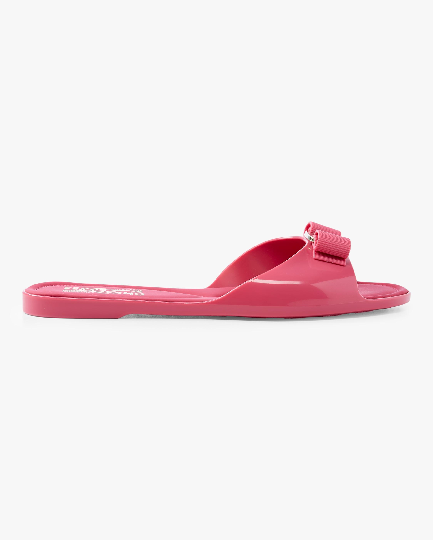 60703c904e7 Lyst - Ferragamo Cirella Rubber Slide Sandals in Pink - Save 20%