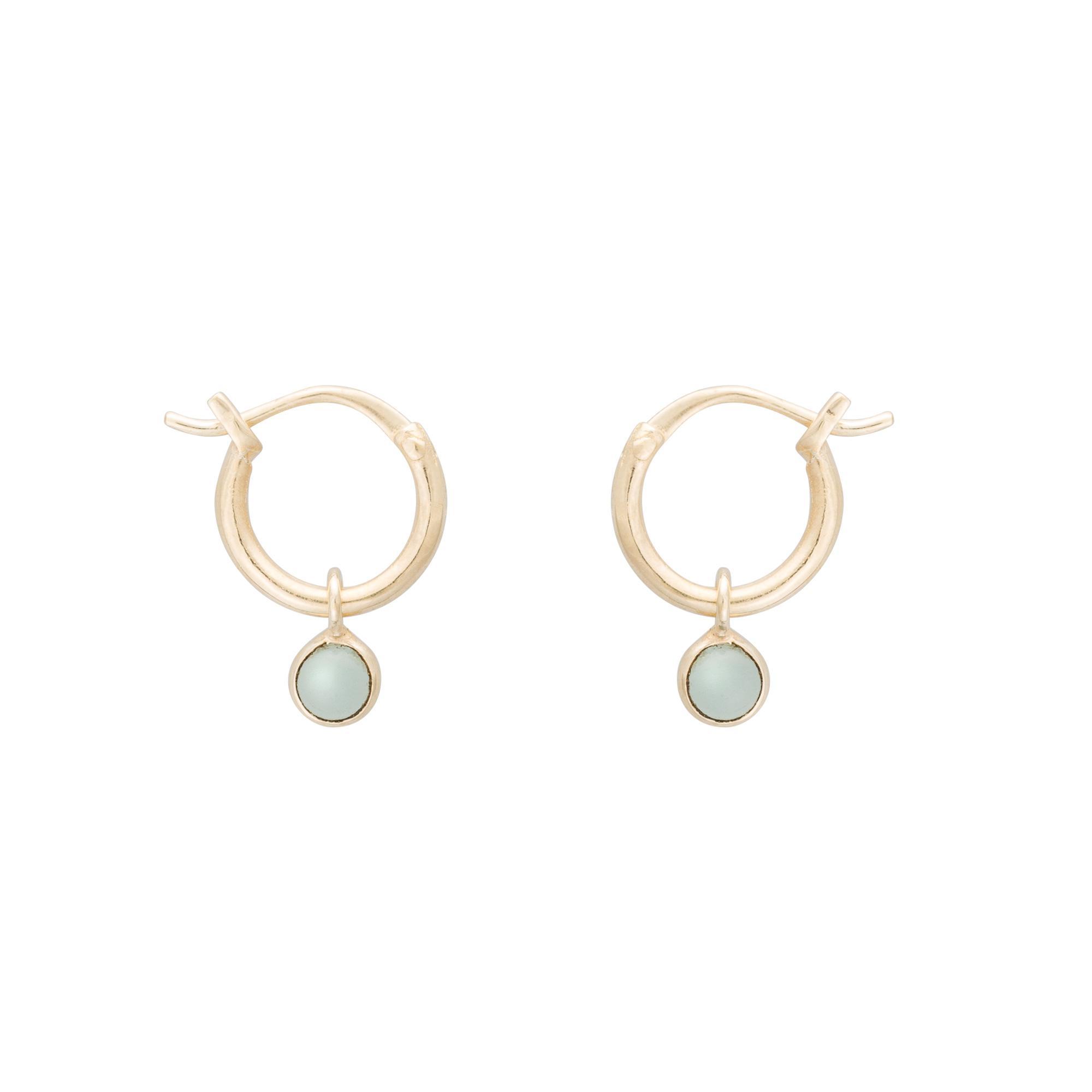 ef4d4eeb5 Oliver Bonas Nou Hoop & Sphere Gold Plated Earrings in Metallic - Lyst