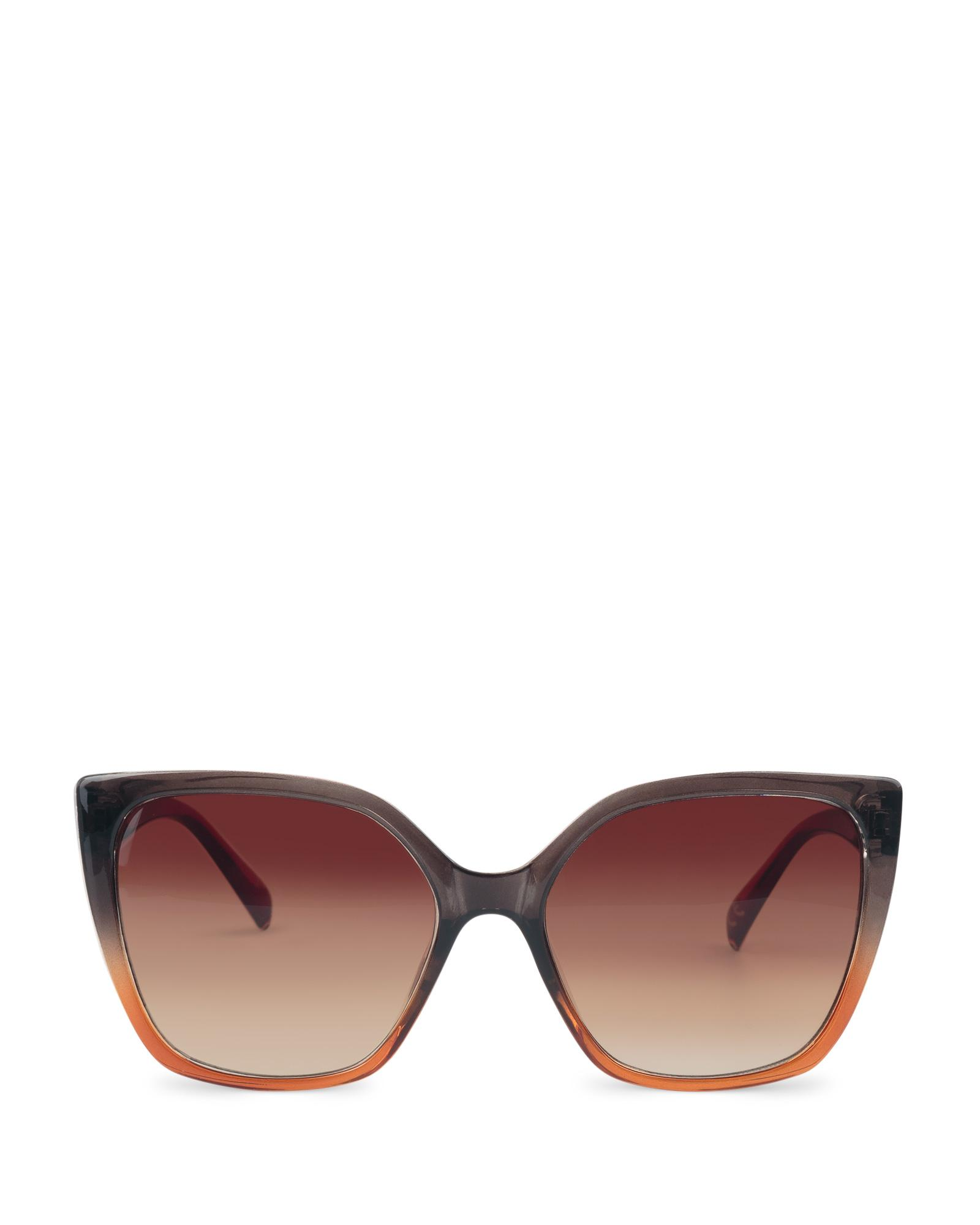 64d0803dc6 Lyst - Oliver Bonas Angled Square Ombre Brown Sunglasses in Brown