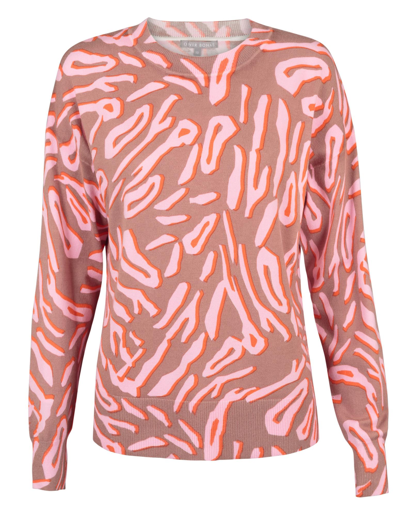 7d5f3b0392 Lyst - Oliver Bonas Animal Print Camel Sweater in Brown