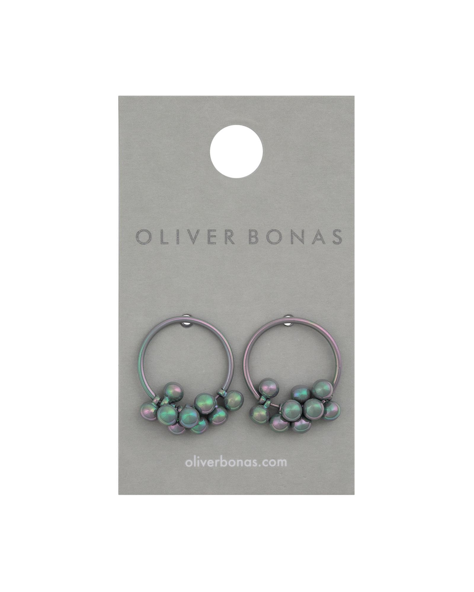 b8e0d275d Oliver Bonas Nima Iridescent Bead & Hoop Earrings - Lyst