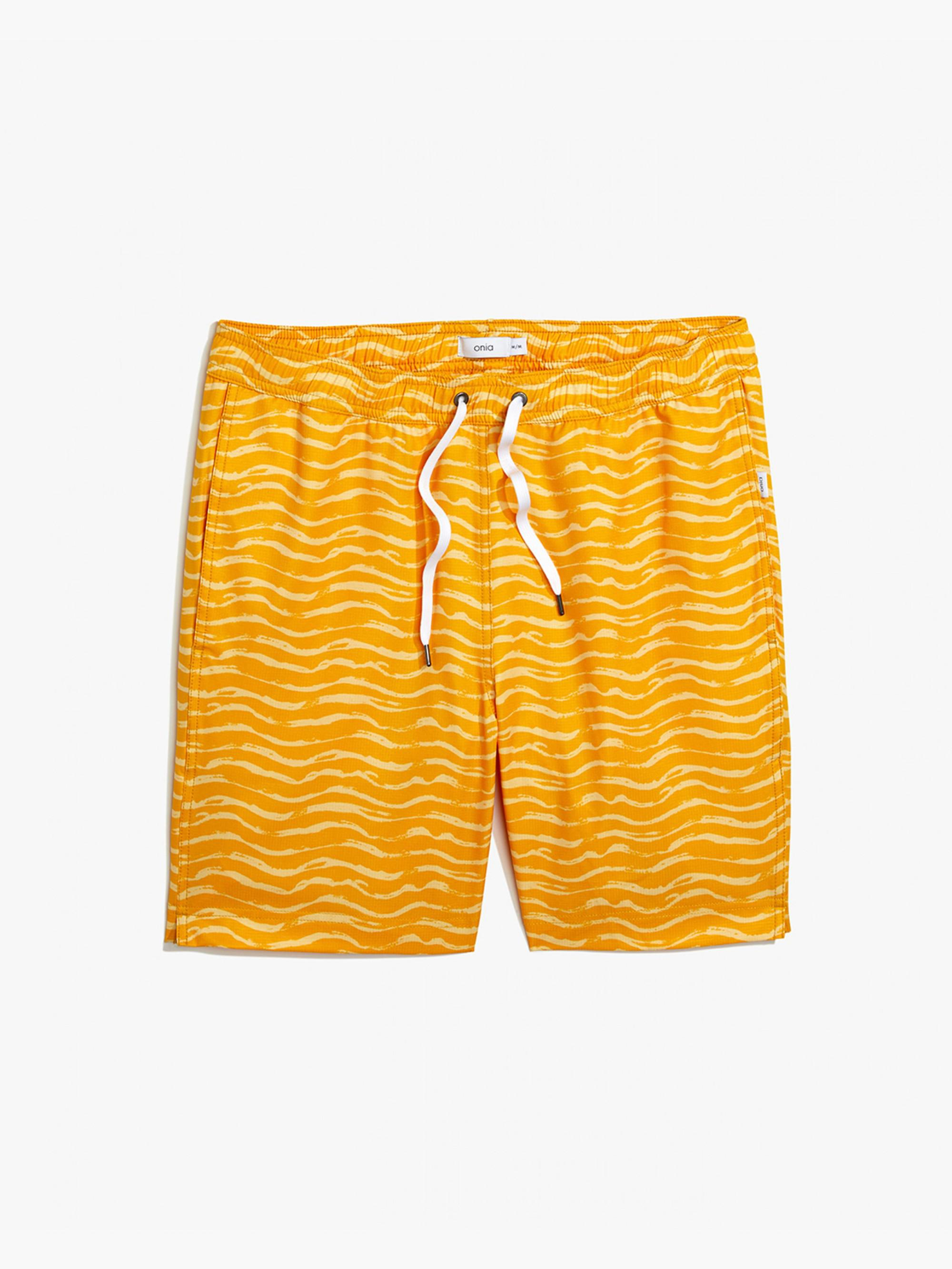 Charles 7 swim trunks - Yellow & Orange Onia