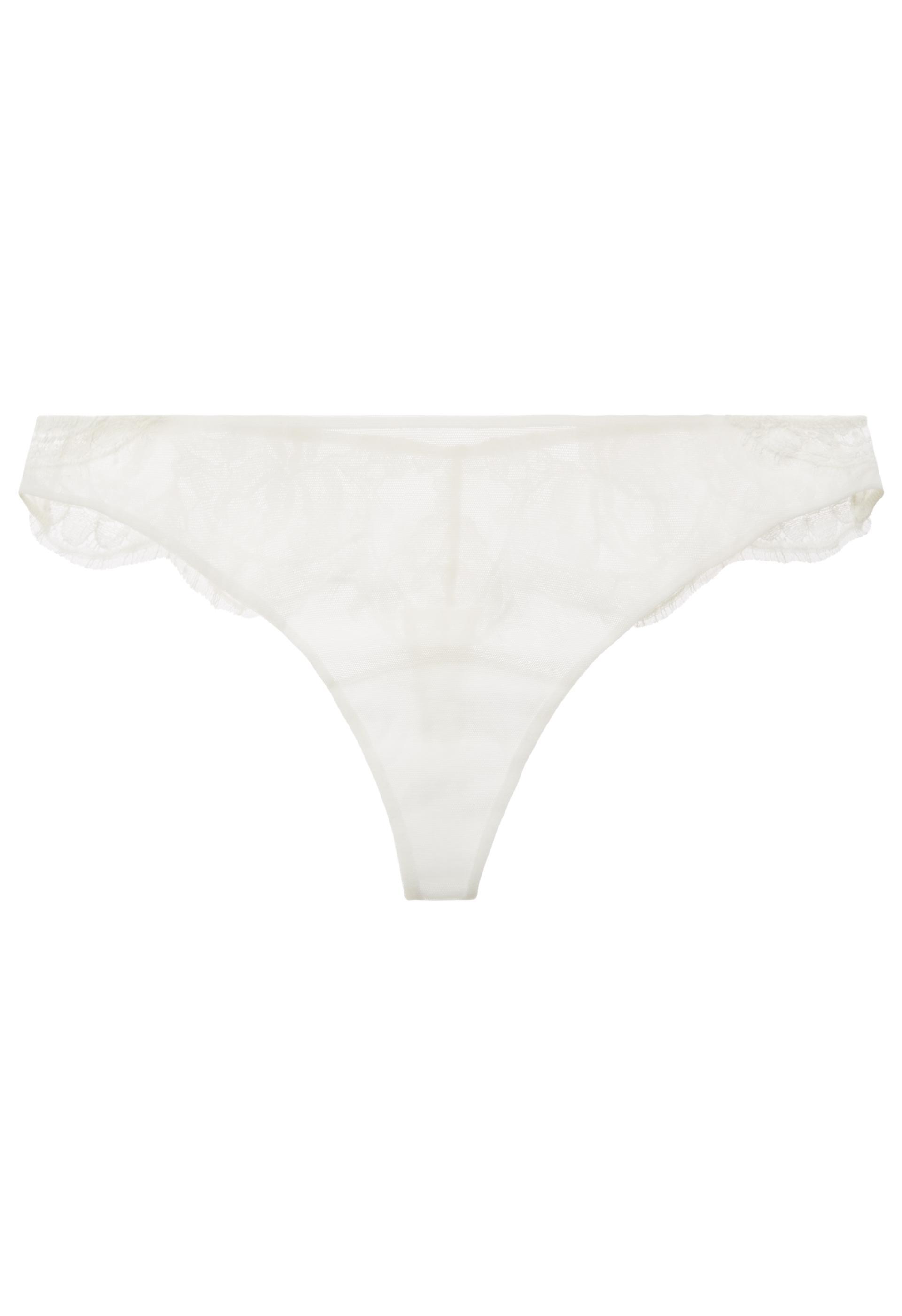 d951d0464888f Lyst - La Perla Lawinia Rose Thong in White