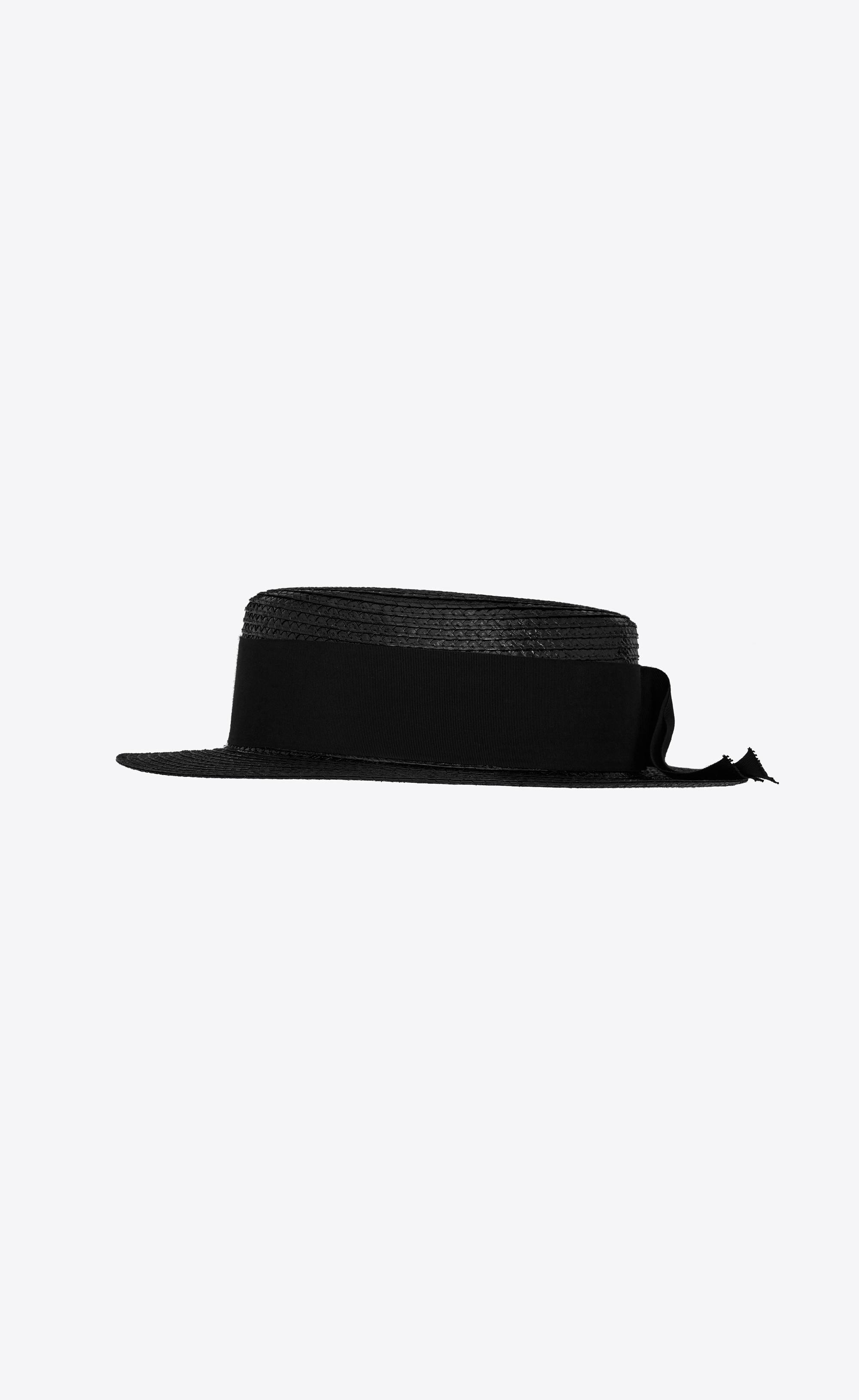 0a1a308c Saint Laurent - Black Small Boater Hat - Lyst. View fullscreen