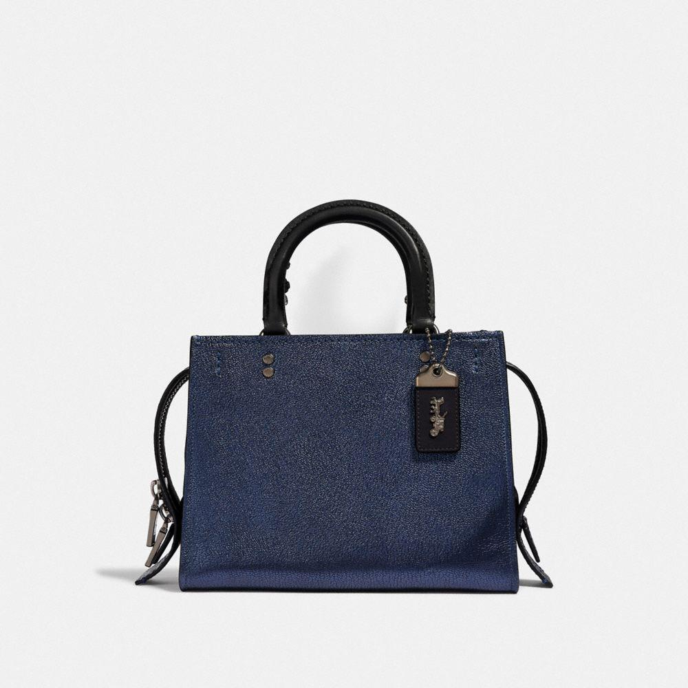 d30810077f90 Lyst - COACH Rogue 25 With Snakeskin Detail in Blue