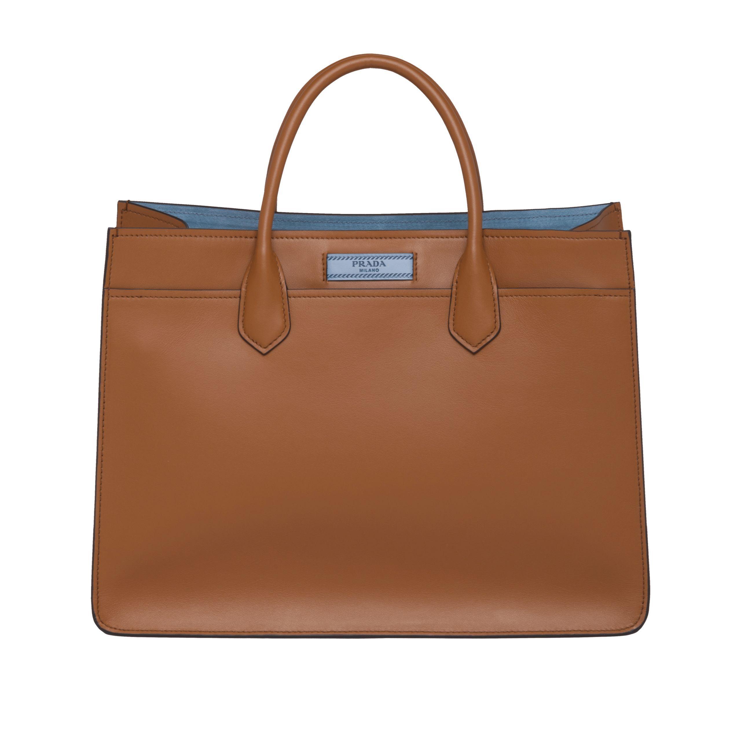 30c06fb0be4f Lyst - Prada Dual Leather Bag in Brown