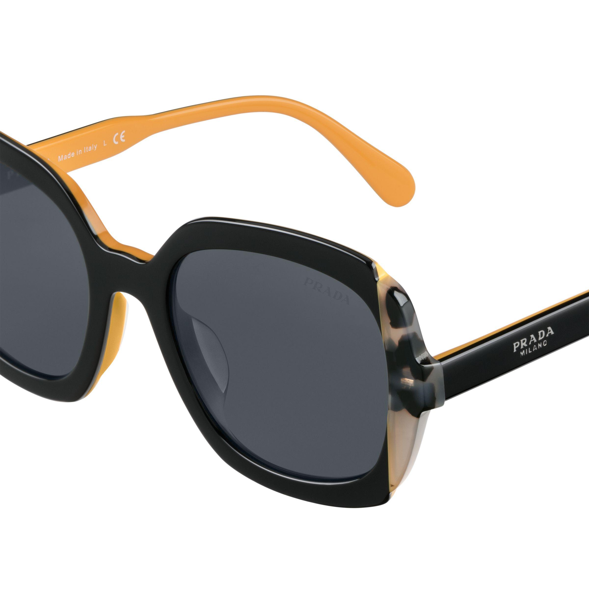 e8227ba5121 Prada - Black Eyewear Collection Alternative Fit - Lyst. View fullscreen