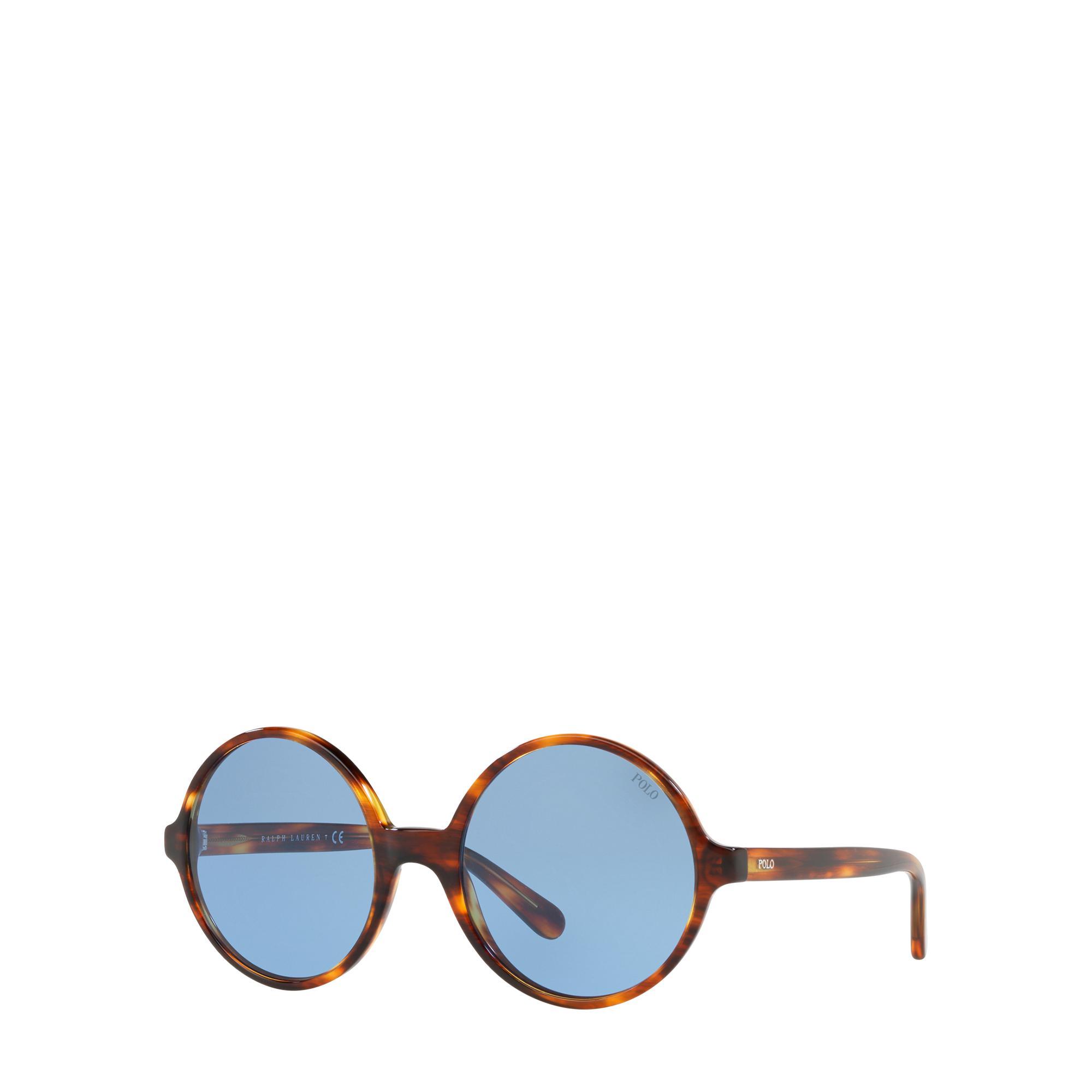 319cc45aff1 Lyst - Polo Ralph Lauren Oversize Round Sunglasses in Blue