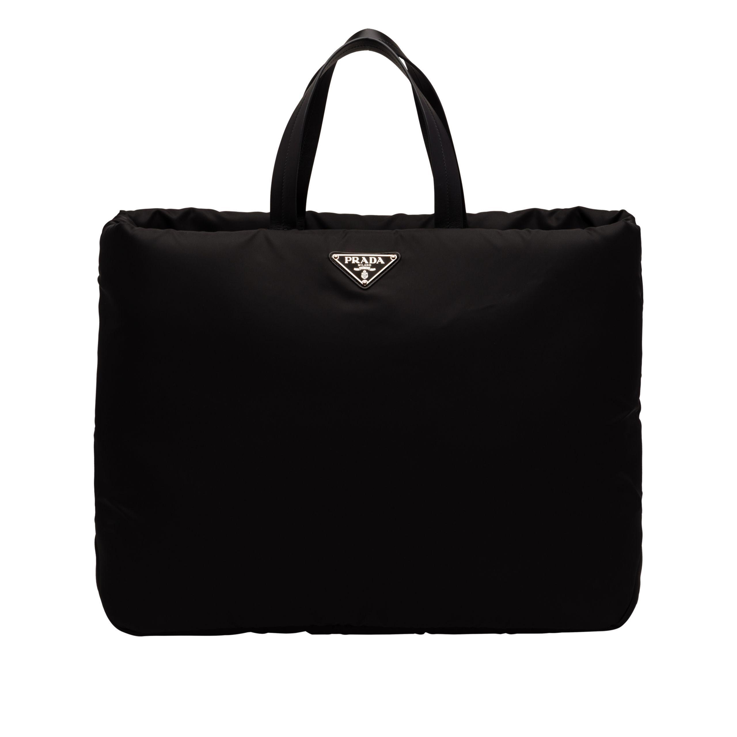 8c2120ed8ff6 Prada - Black Large Padded Nylon Tote - Lyst. View fullscreen