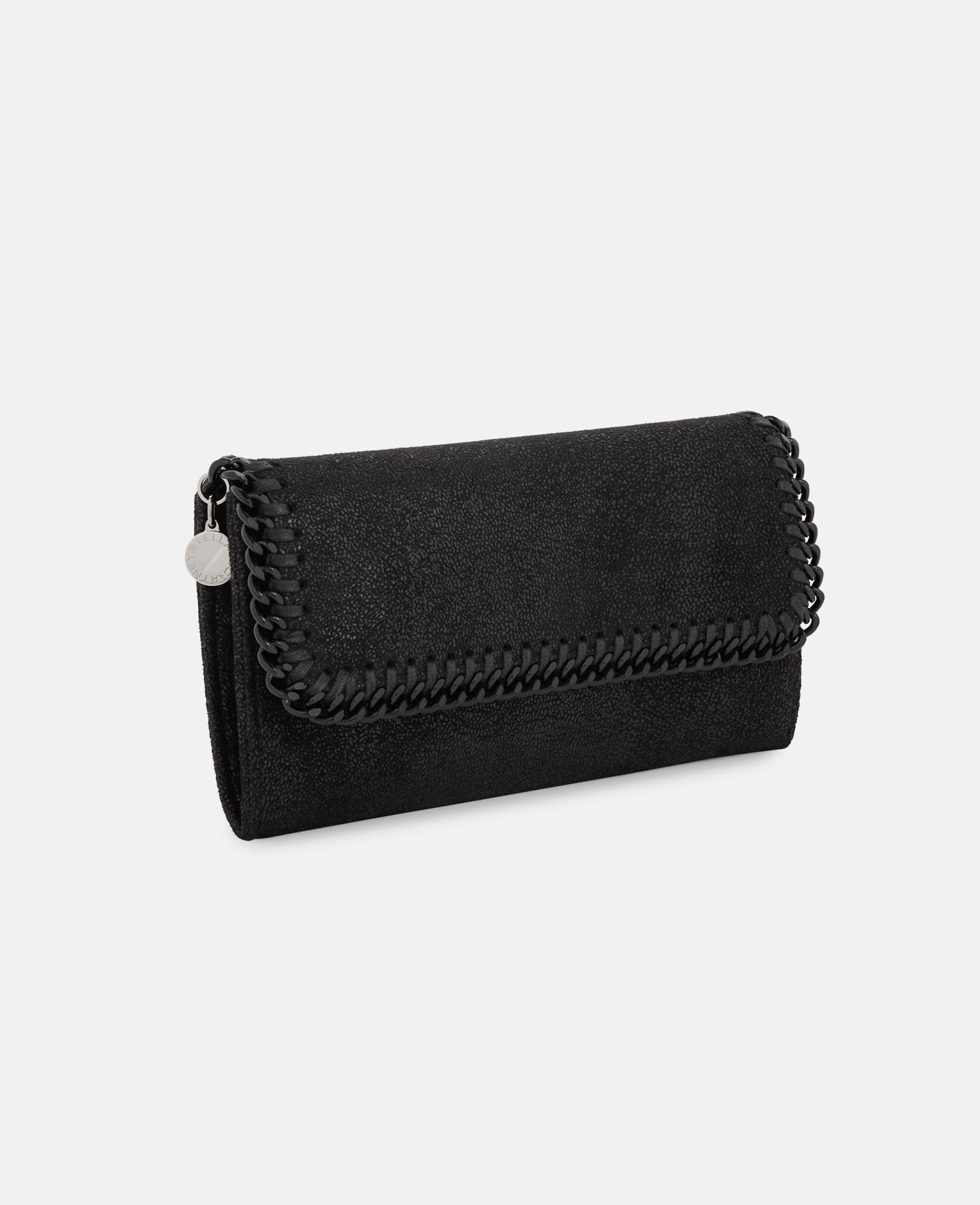 a83220e6a710 Lyst - Stella Mccartney Falabella Continental Wallet in Black